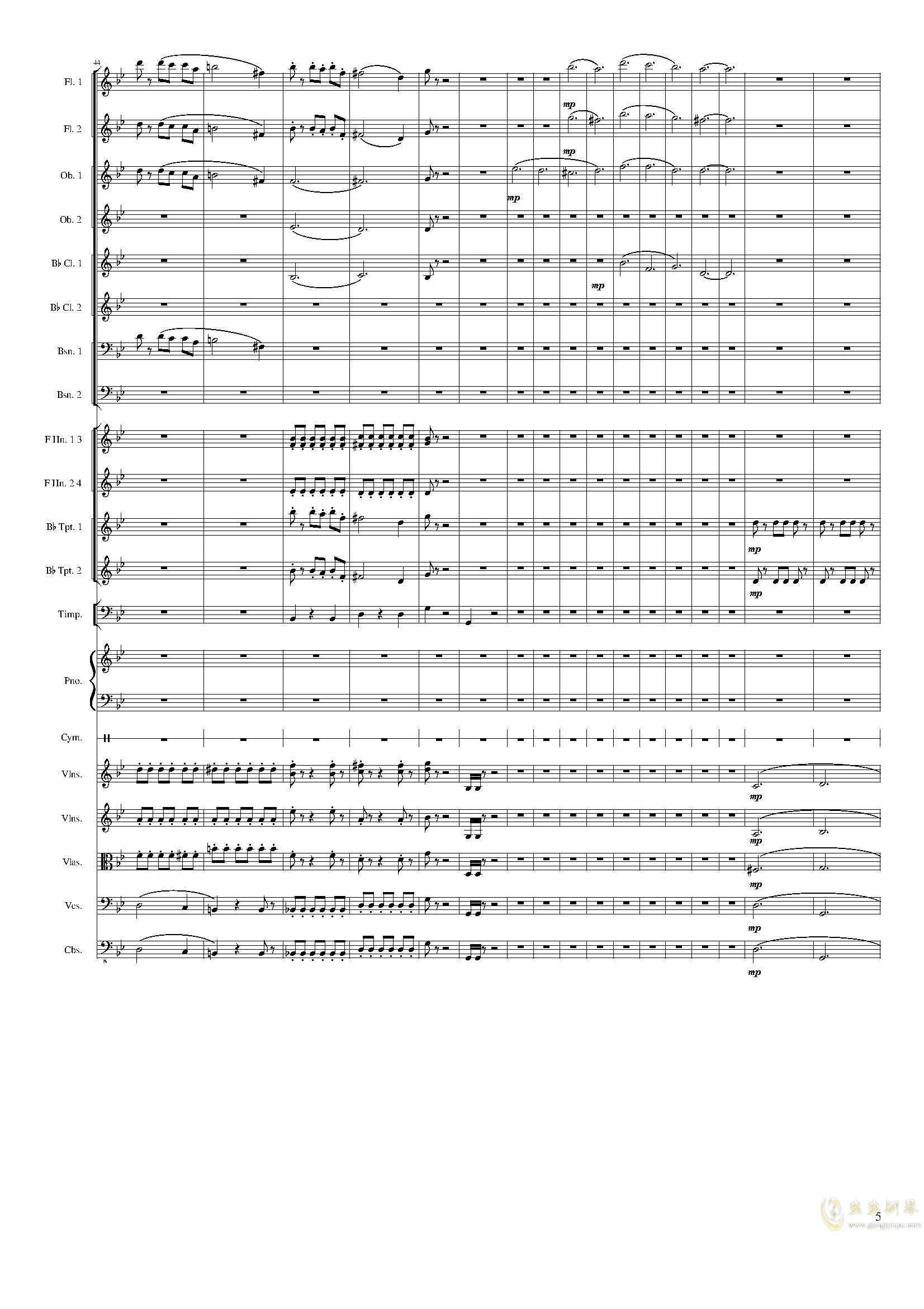 Piano Concerto No.8, Op.123 III.钢琴谱 第5页