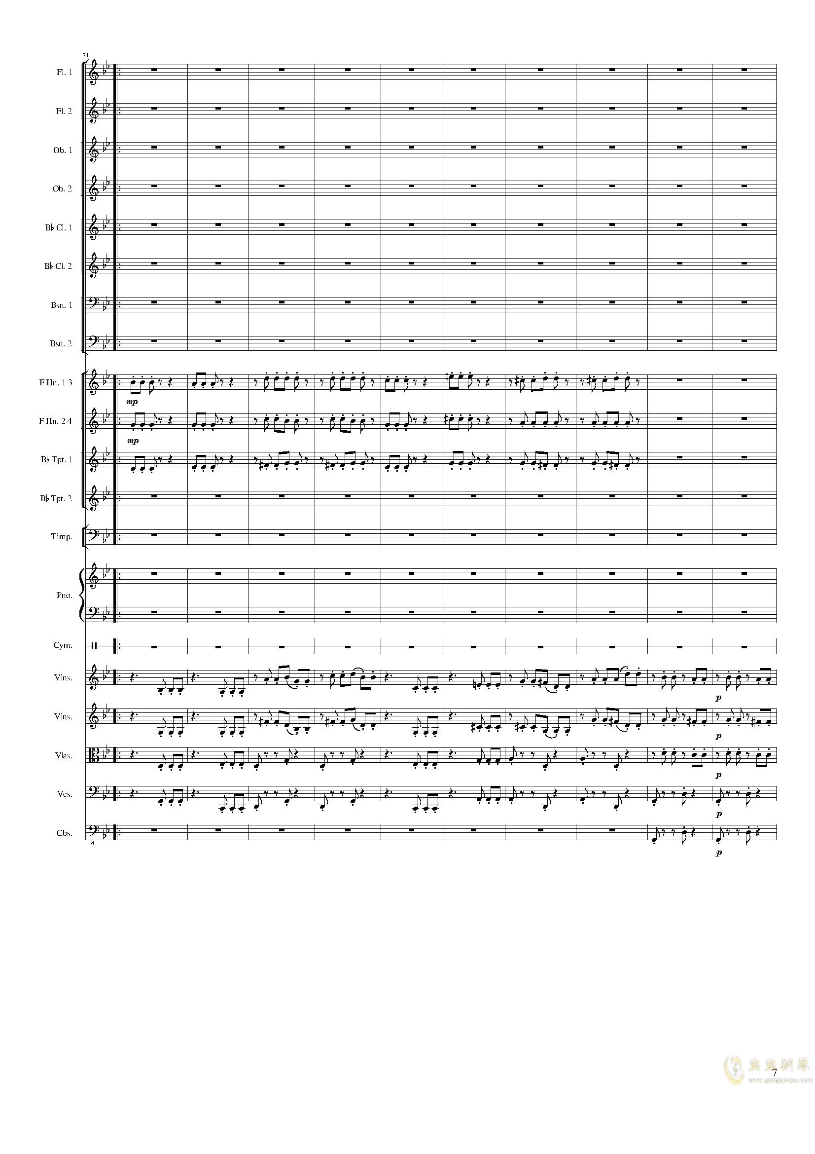 Piano Concerto No.8, Op.123 III.钢琴谱 第7页