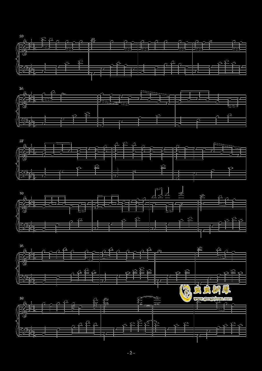 樱花雨钢琴谱 第2页