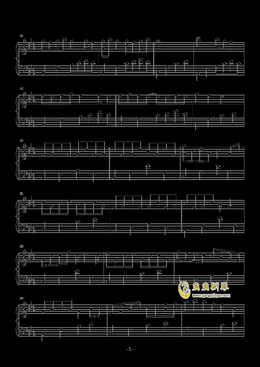 樱花雨钢琴谱 第3页