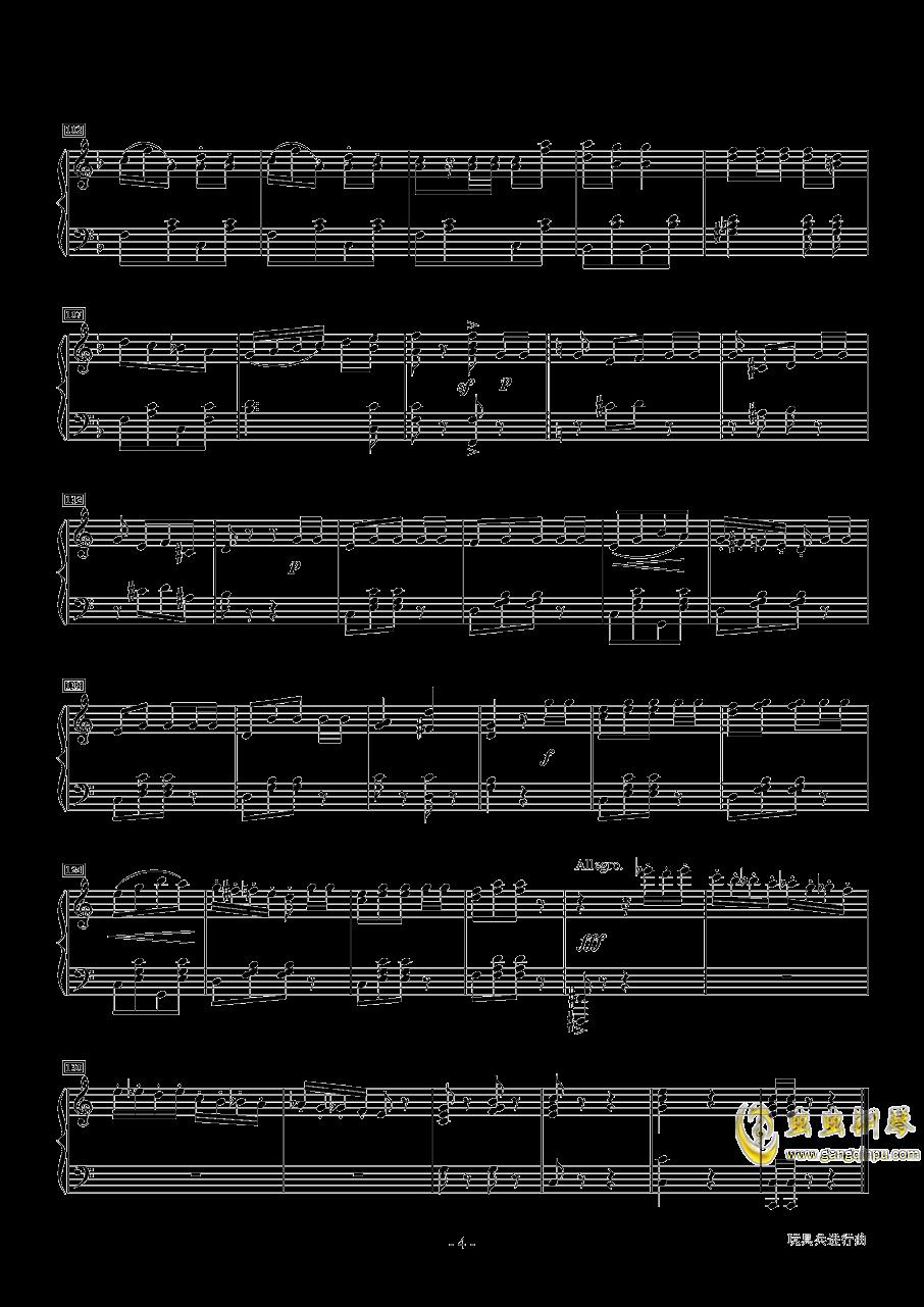 玩具兵进行曲钢琴谱 第4页