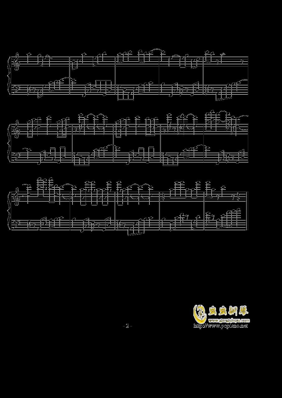 爱殇钢琴谱 第2页