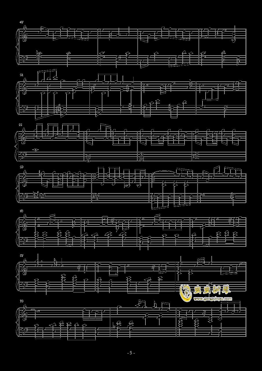 约会大作战I钢琴谱 第3页