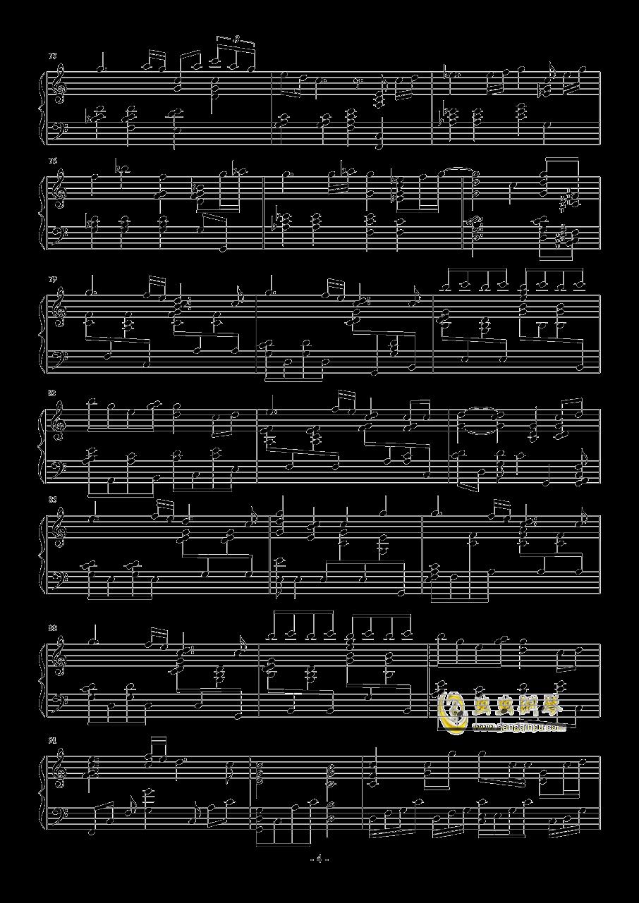 约会大作战I钢琴谱 第4页
