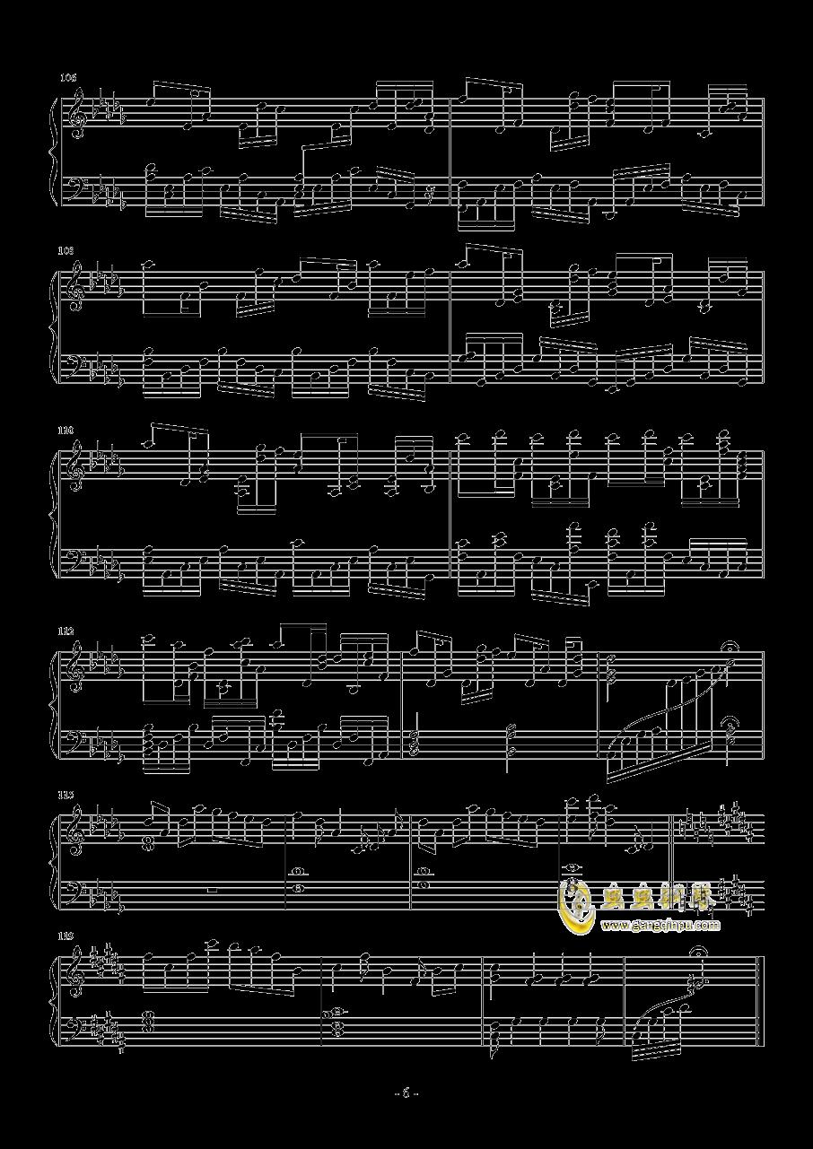 约会大作战I钢琴谱 第6页