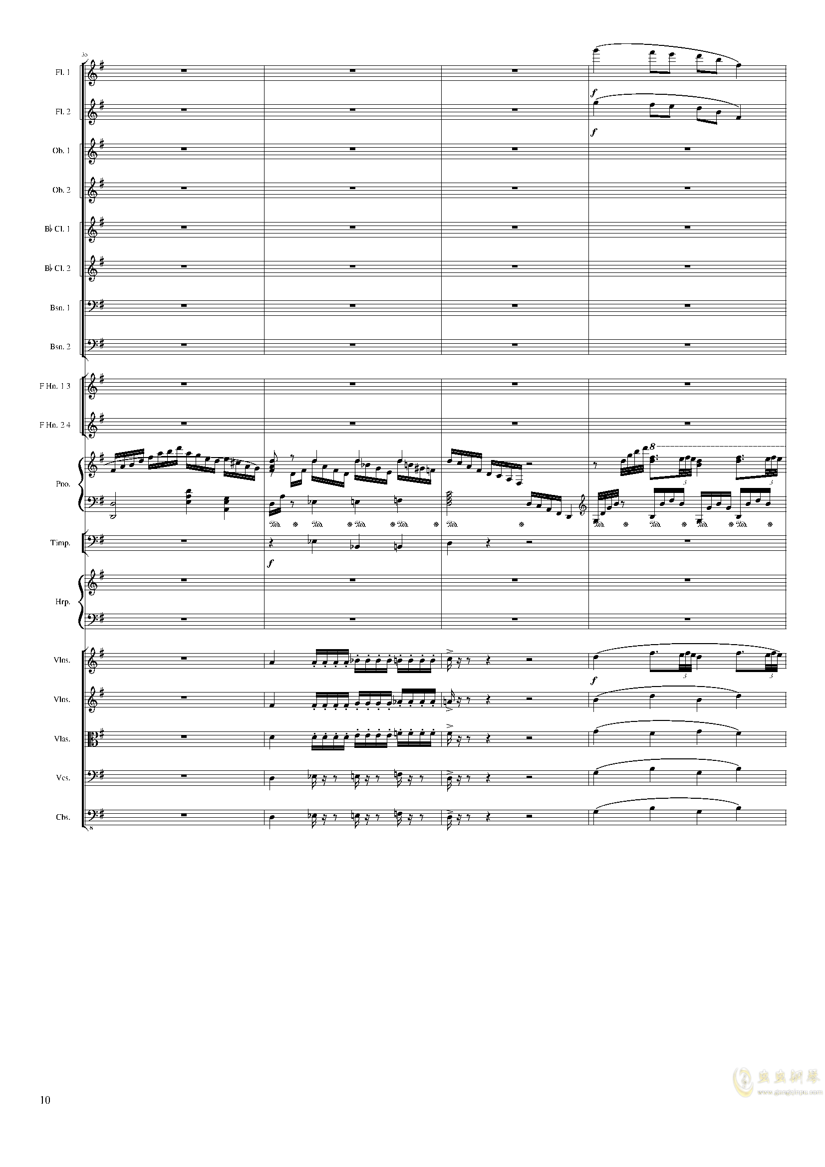 Lyric Overture for piano and orchestra, Op.115(未完成)澳门星际官网 第10页