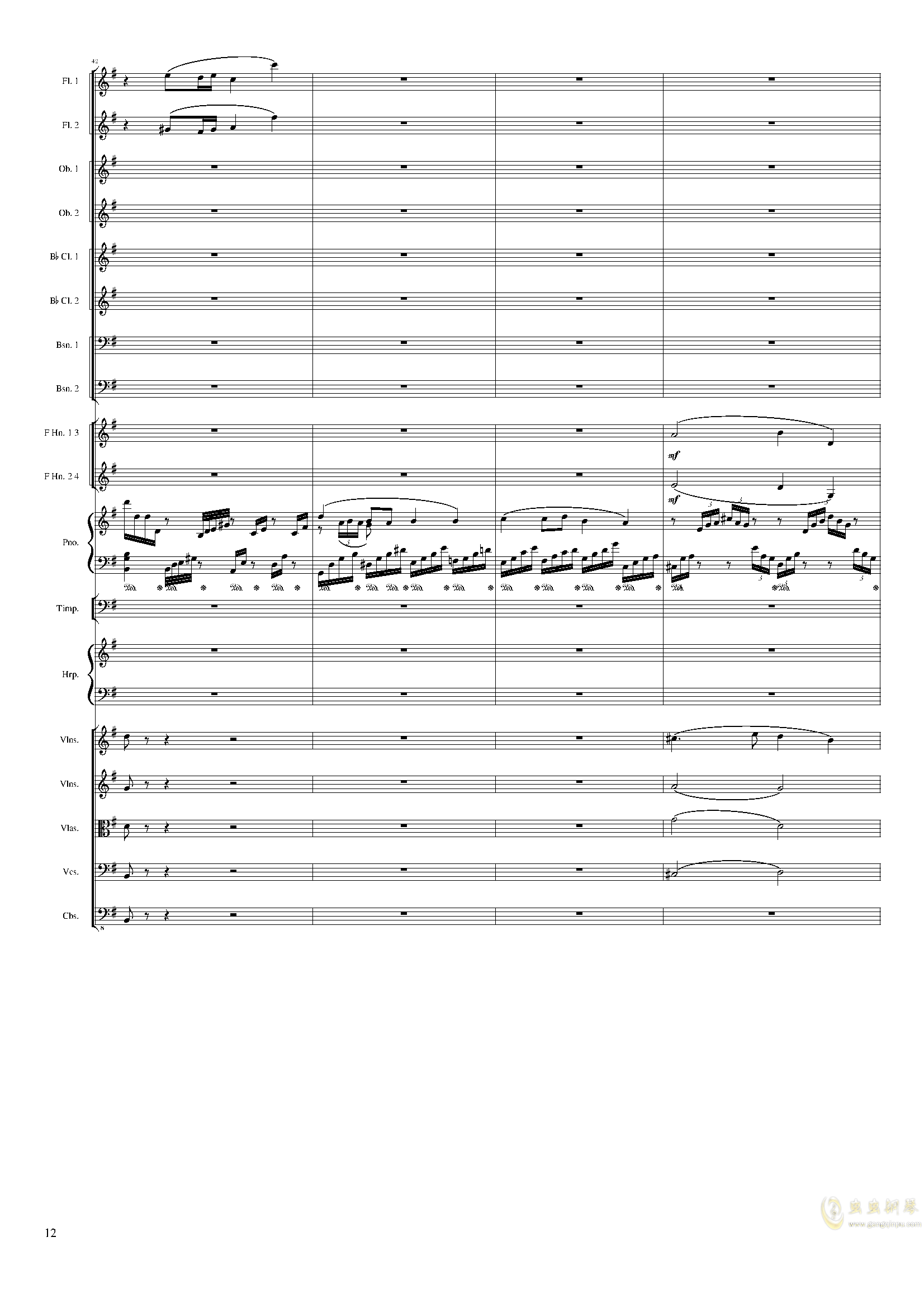 Lyric Overture for piano and orchestra, Op.115(未完成)澳门星际官网 第12页