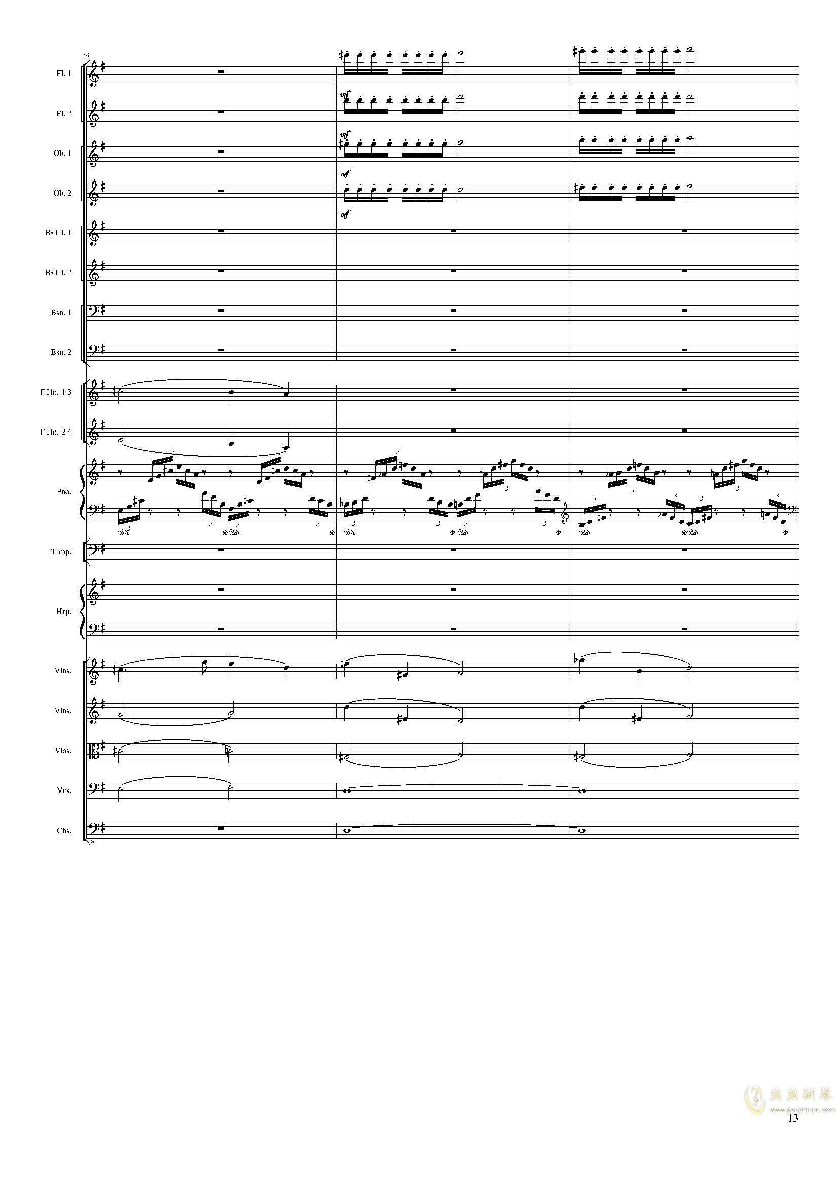 Lyric Overture for piano and orchestra, Op.115(未完成)澳门星际官网 第13页