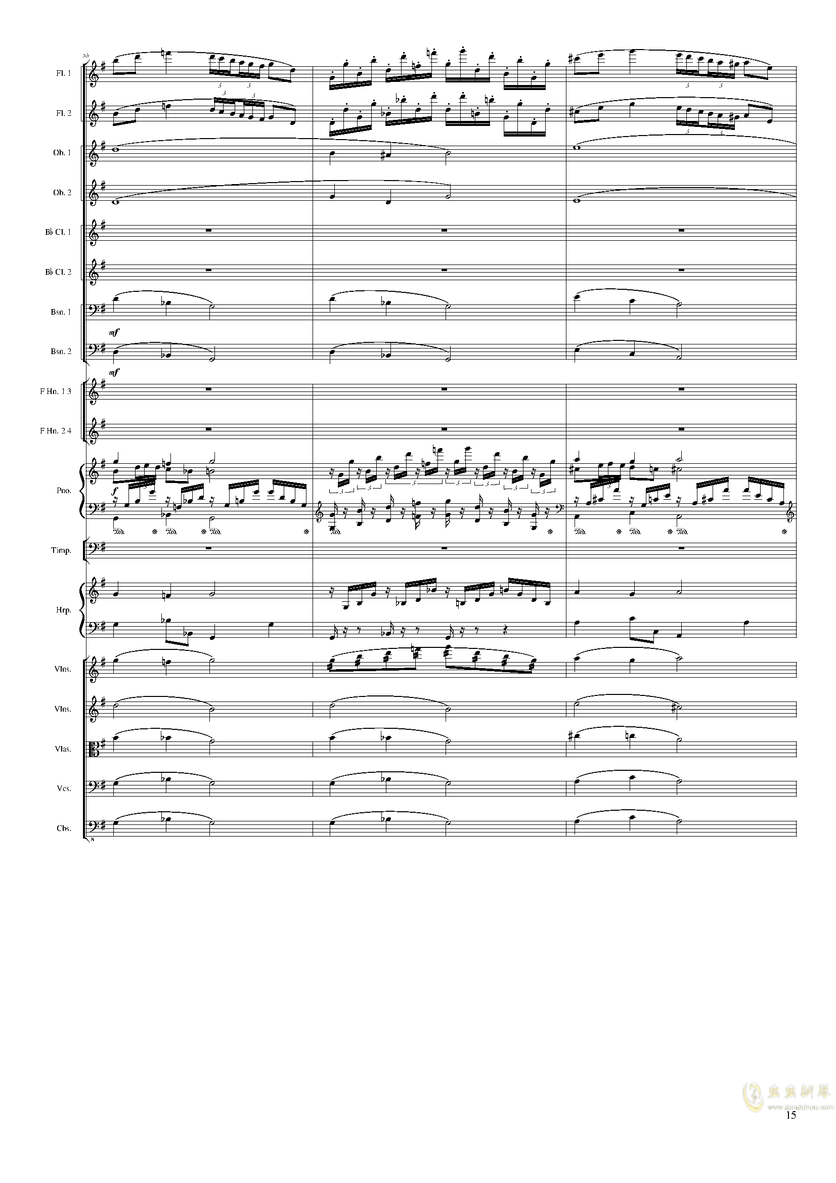 Lyric Overture for piano and orchestra, Op.115(未完成)澳门星际官网 第15页
