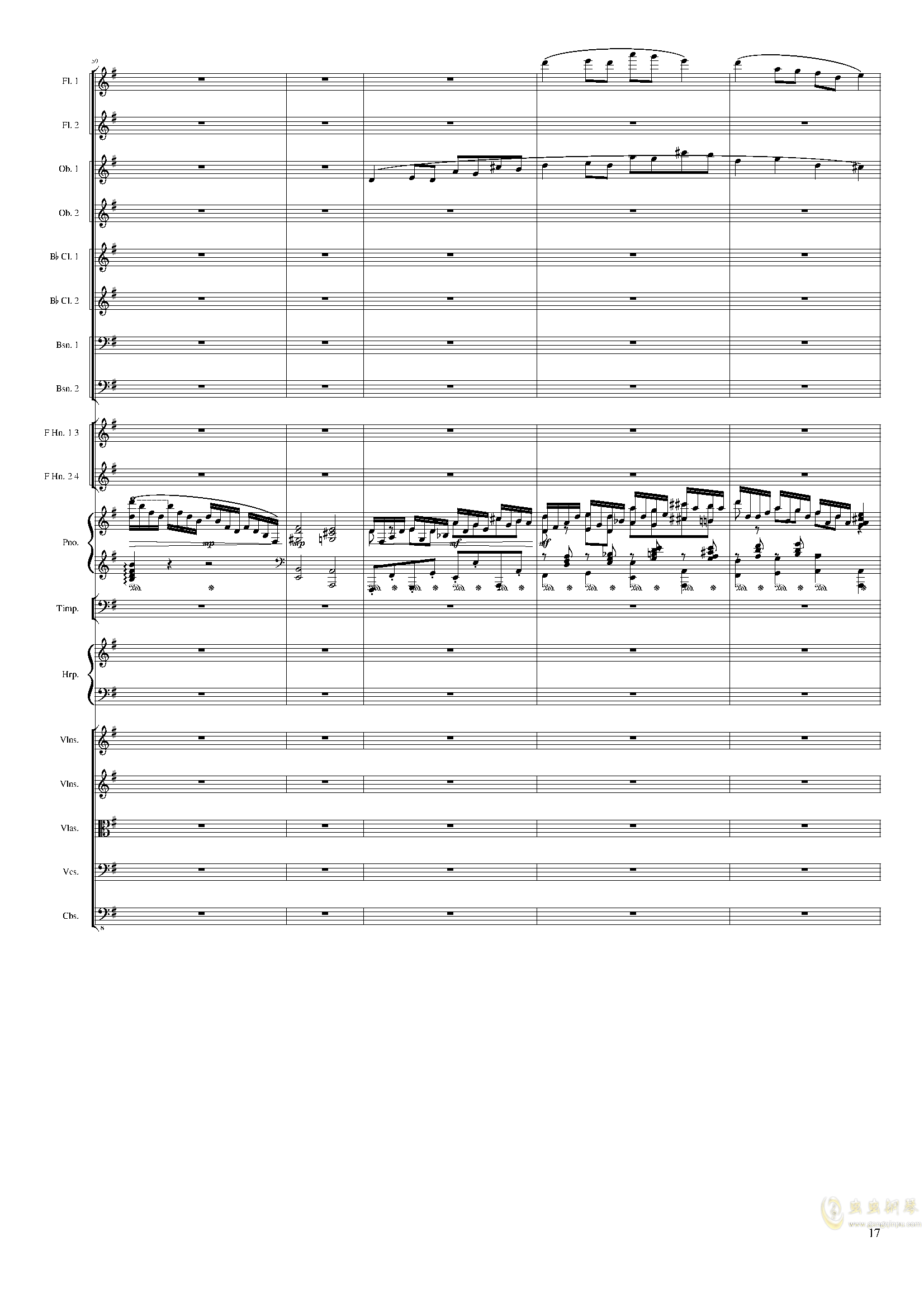 Lyric Overture for piano and orchestra, Op.115(未完成)澳门星际官网 第17页