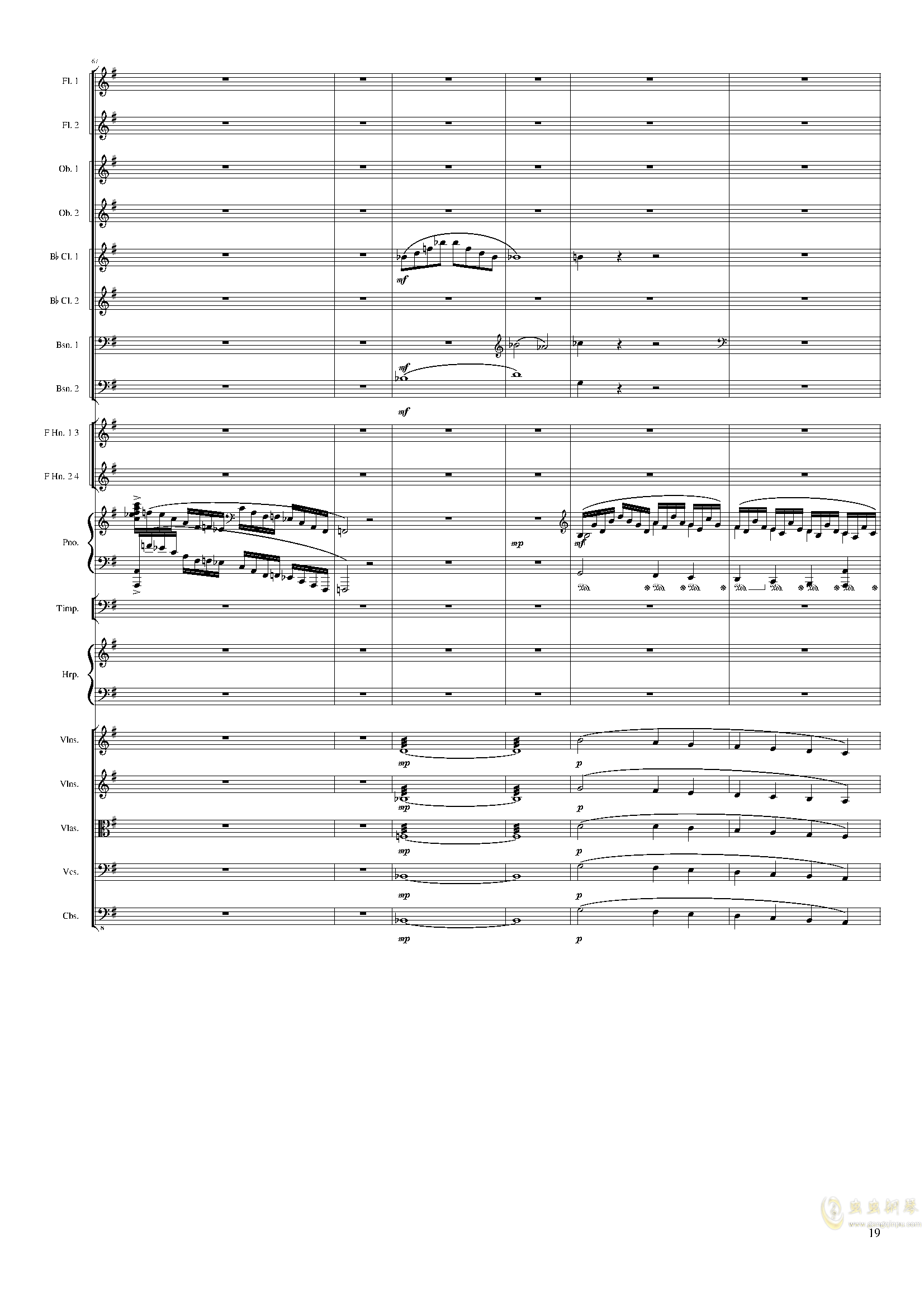Lyric Overture for piano and orchestra, Op.115(未完成)澳门星际官网 第19页