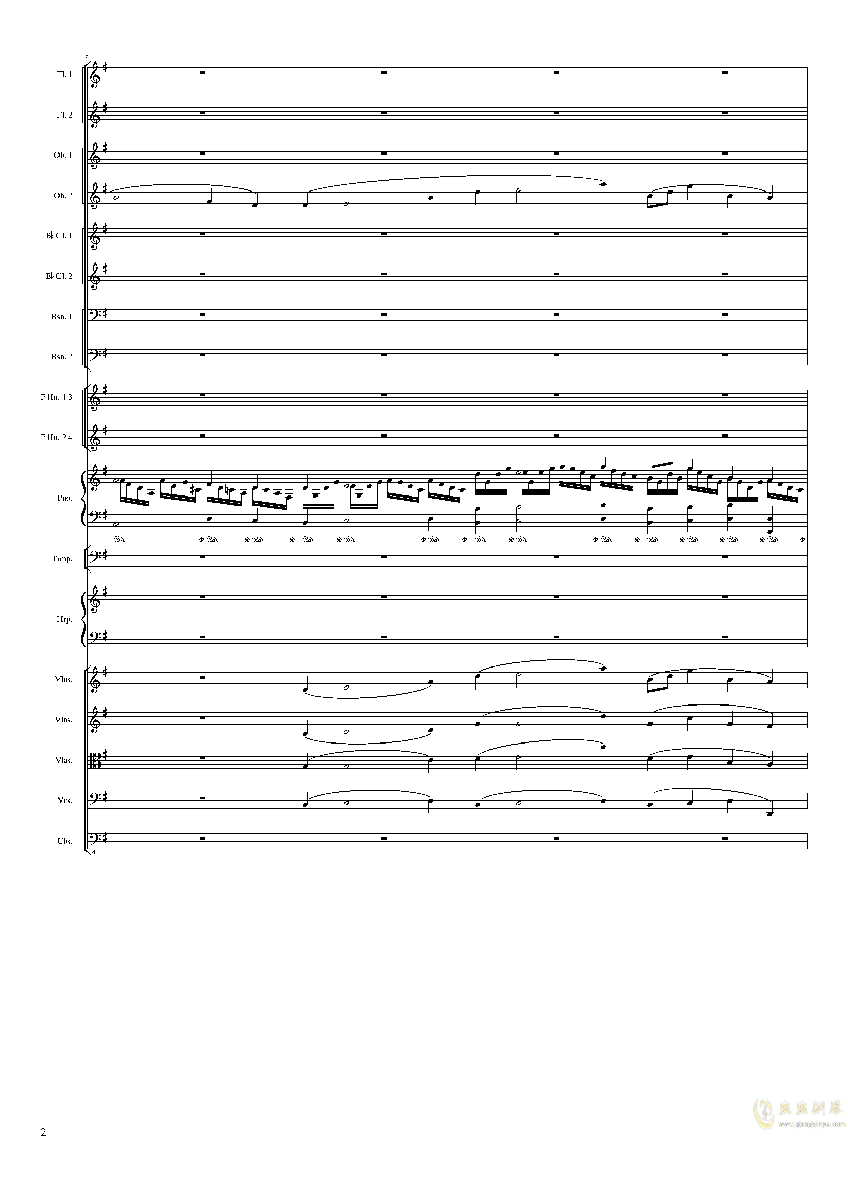 Lyric Overture for piano and orchestra, Op.115(未完成)澳门星际官网 第2页