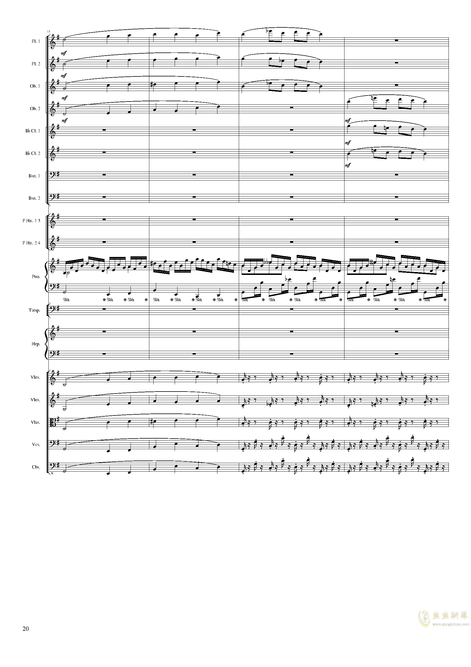Lyric Overture for piano and orchestra, Op.115(未完成)澳门星际官网 第20页
