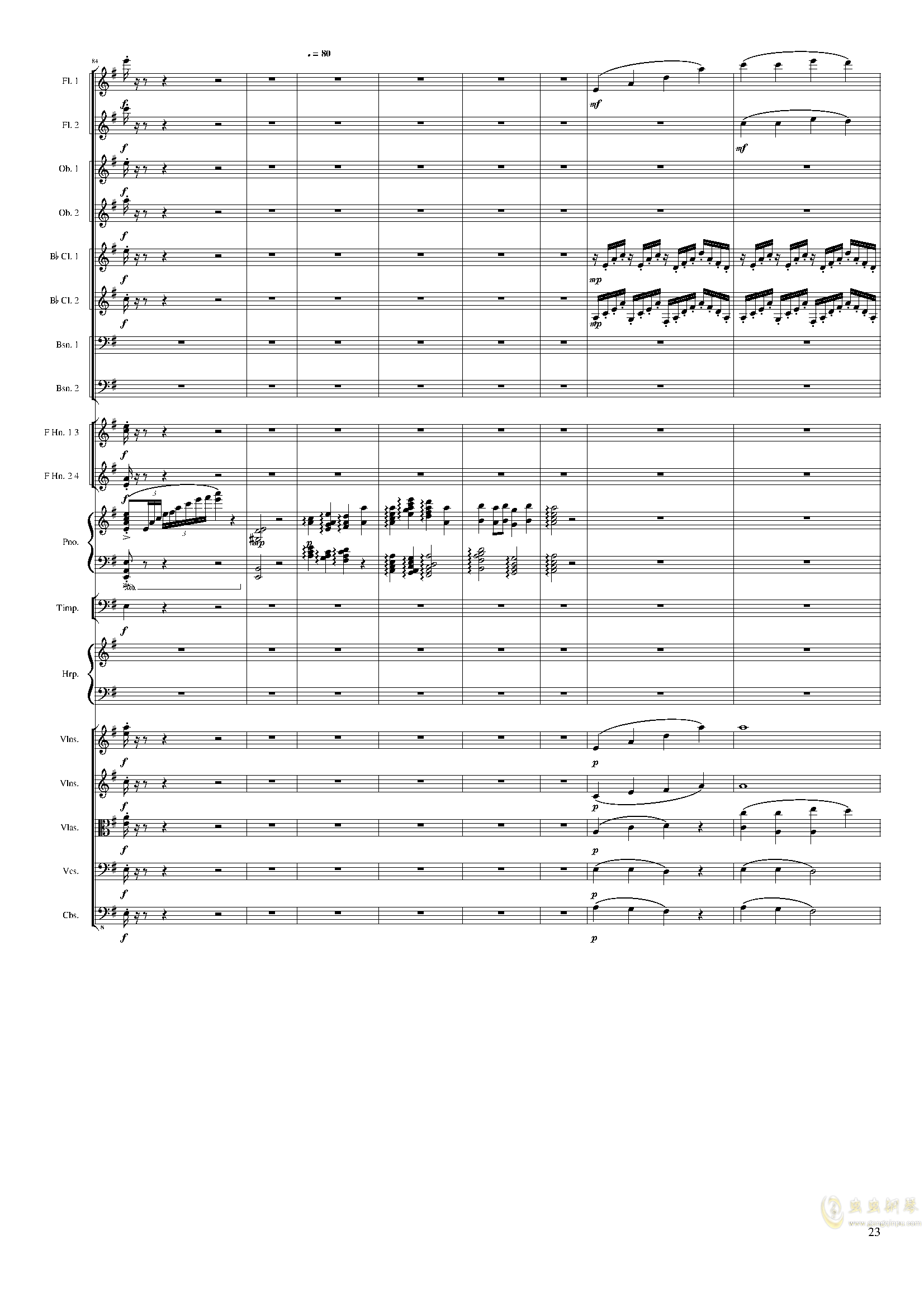 Lyric Overture for piano and orchestra, Op.115(未完成)澳门星际官网 第23页