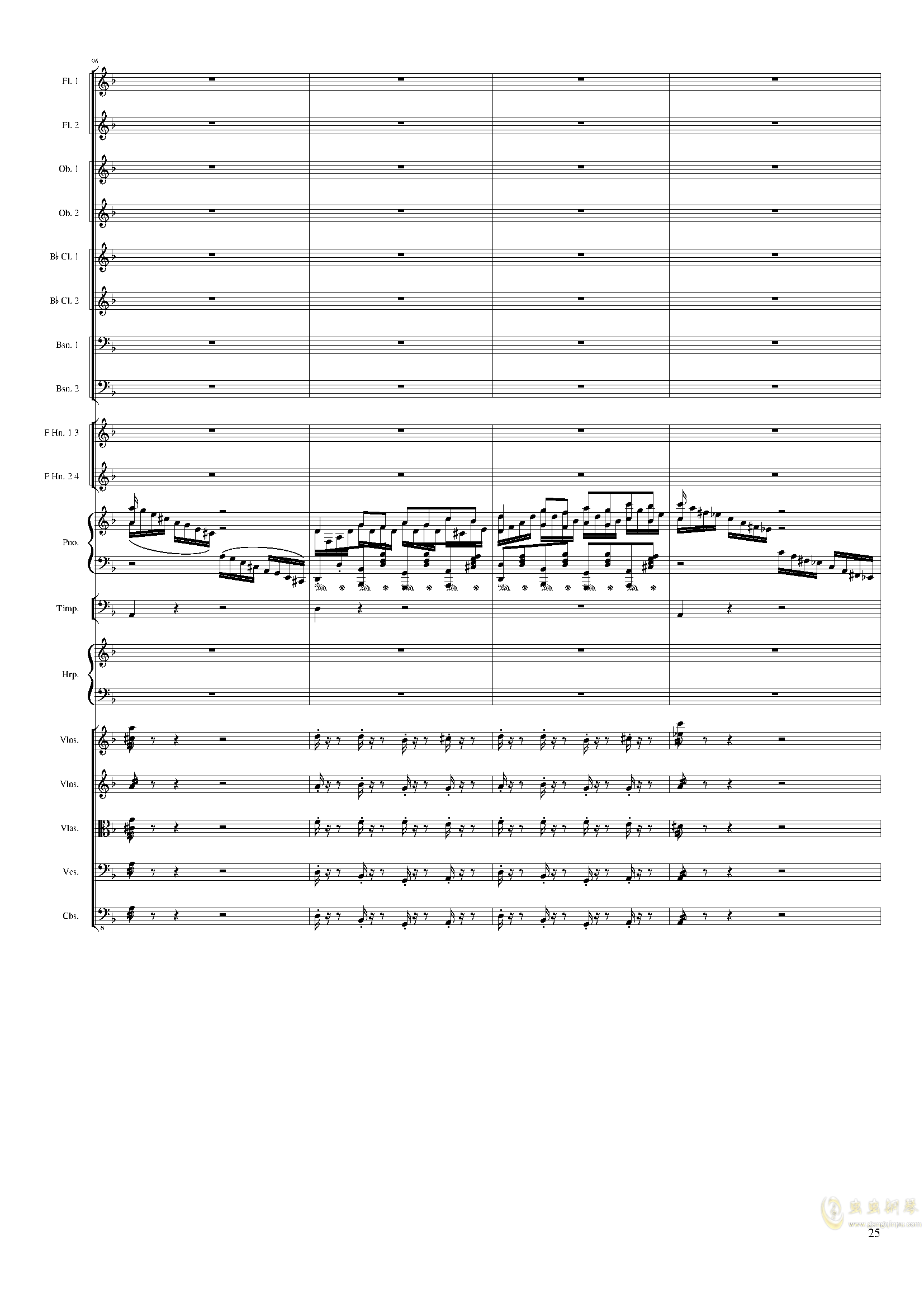 Lyric Overture for piano and orchestra, Op.115(未完成)澳门星际官网 第25页