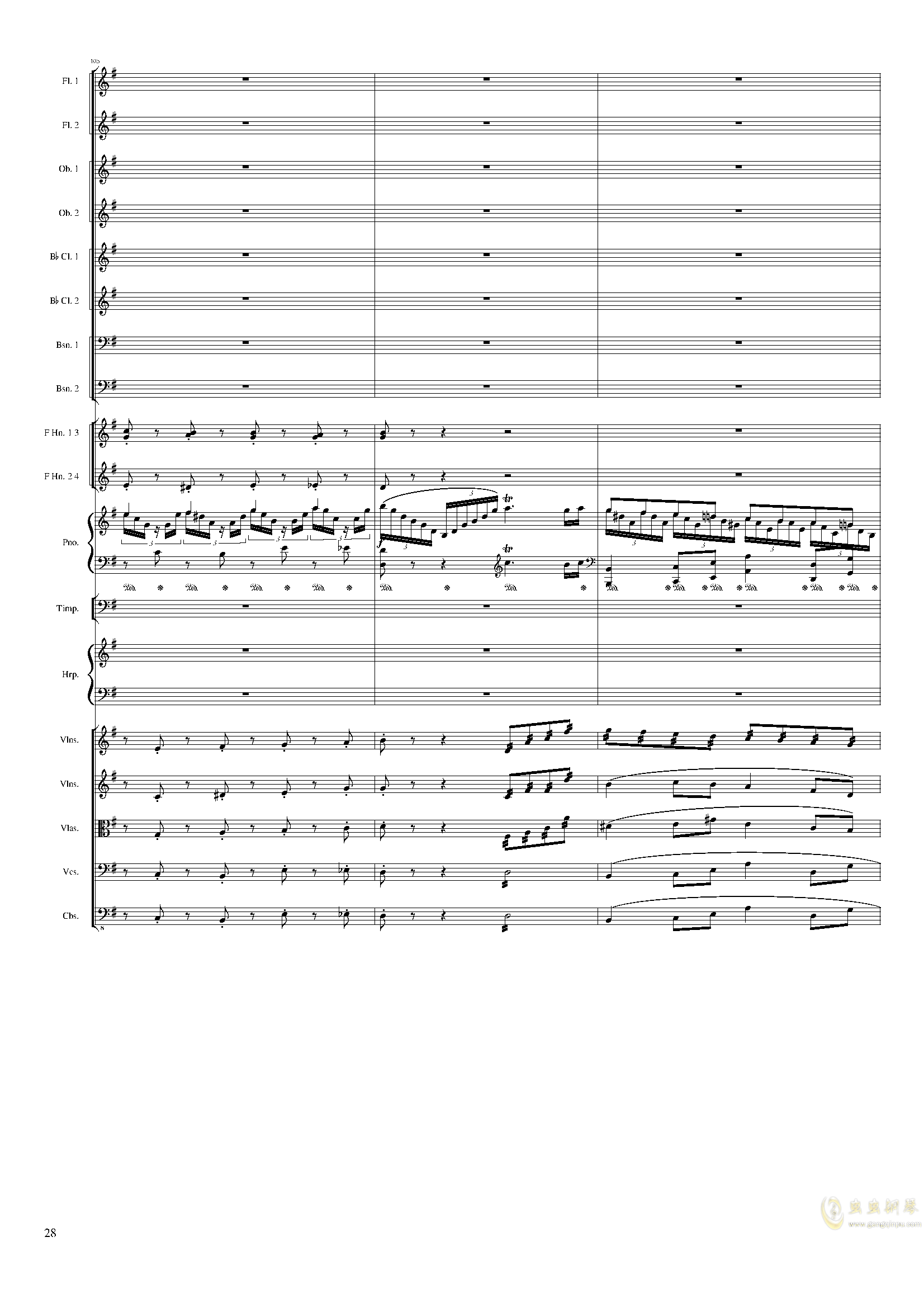 Lyric Overture for piano and orchestra, Op.115(未完成)澳门星际官网 第28页