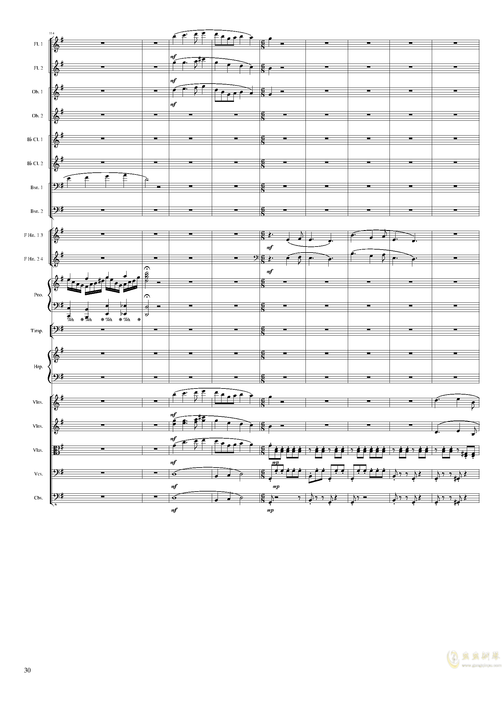 Lyric Overture for piano and orchestra, Op.115(未完成)澳门星际官网 第30页