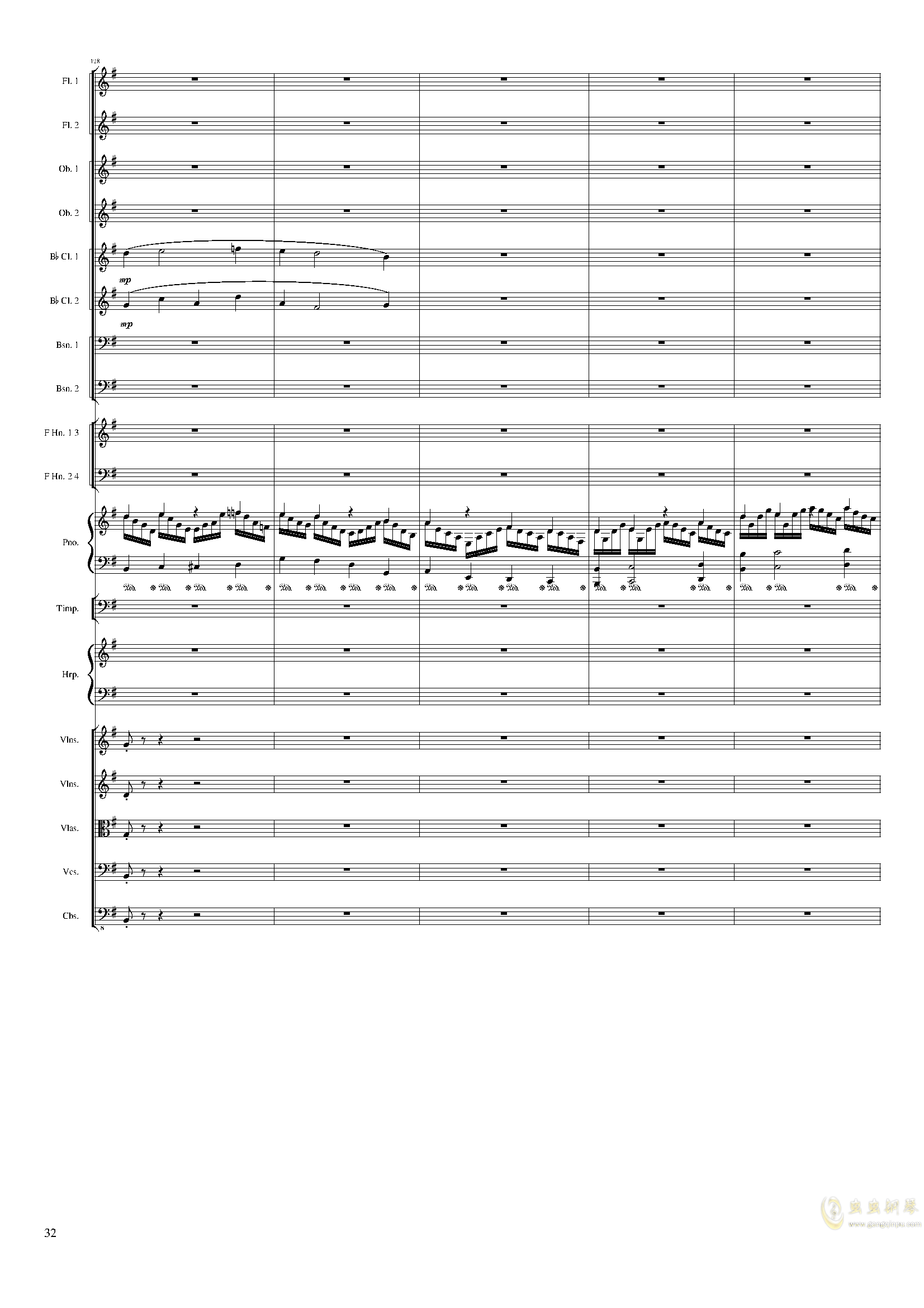 Lyric Overture for piano and orchestra, Op.115(未完成)澳门星际官网 第32页