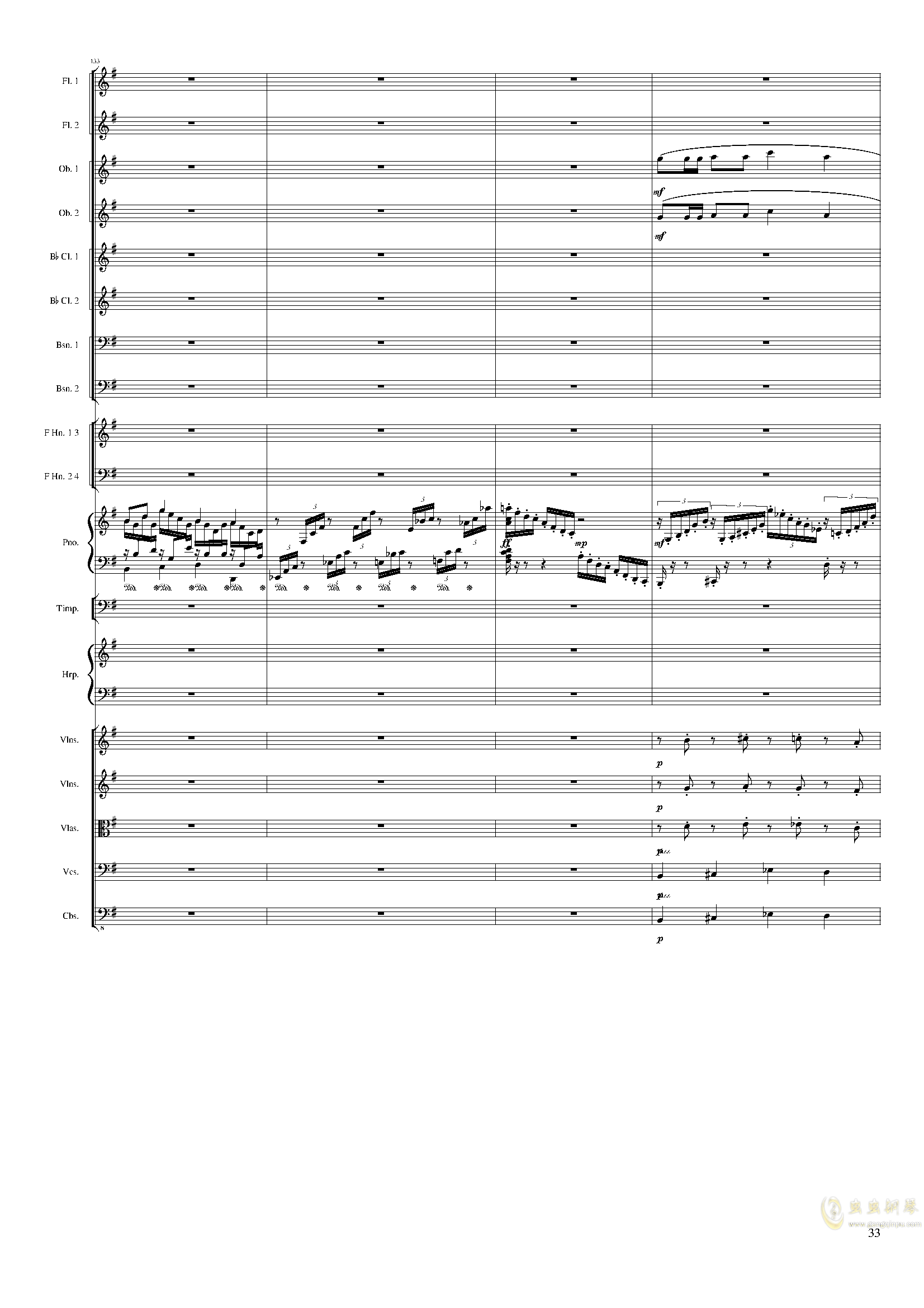 Lyric Overture for piano and orchestra, Op.115(未完成)澳门星际官网 第33页