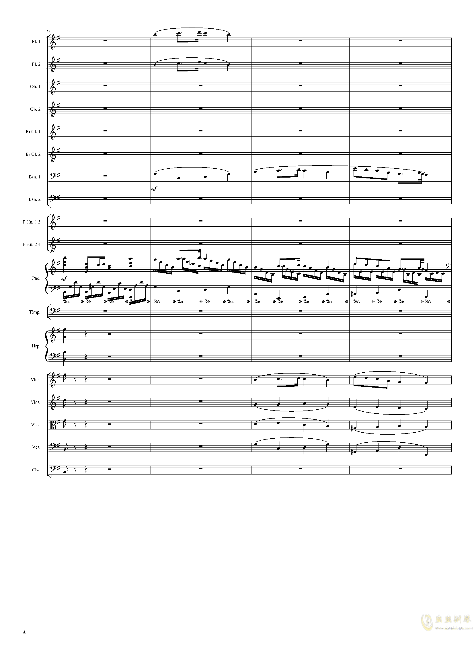 Lyric Overture for piano and orchestra, Op.115(未完成)澳门星际官网 第4页