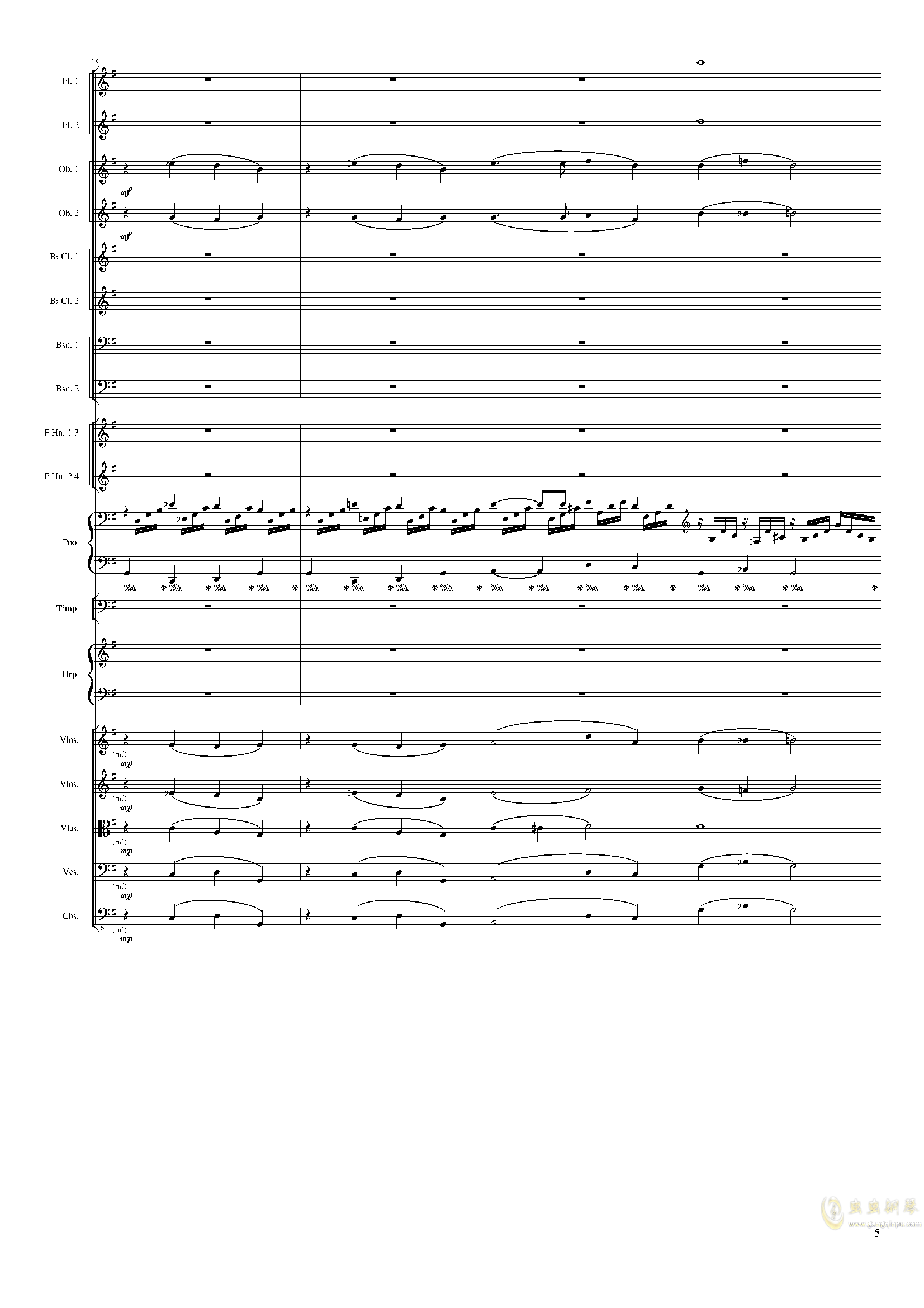 Lyric Overture for piano and orchestra, Op.115(未完成)澳门星际官网 第5页