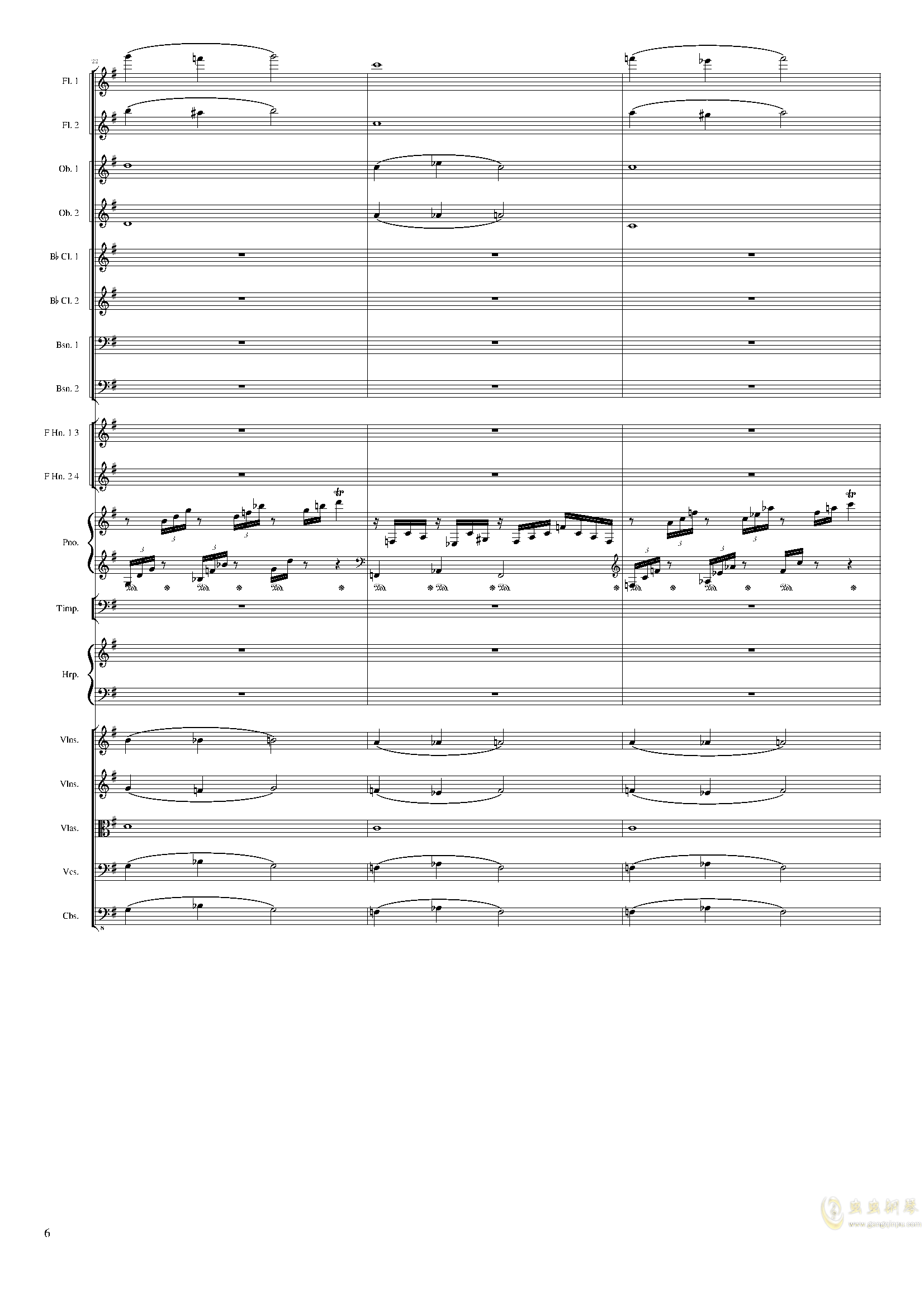 Lyric Overture for piano and orchestra, Op.115(未完成)澳门星际官网 第6页