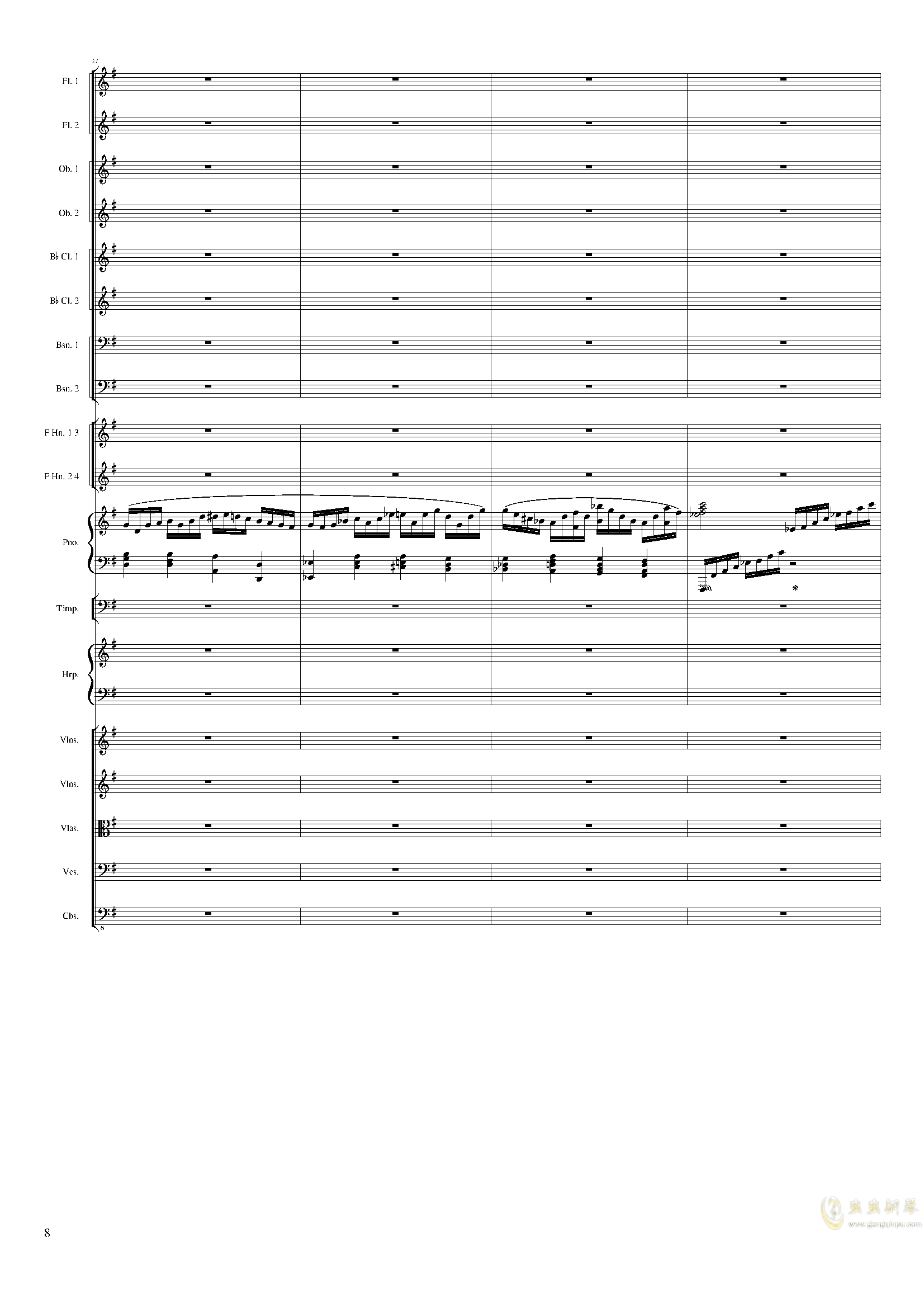 Lyric Overture for piano and orchestra, Op.115(未完成)澳门星际官网 第8页