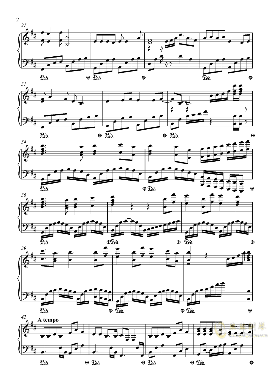 胡广生钢琴谱 第2页