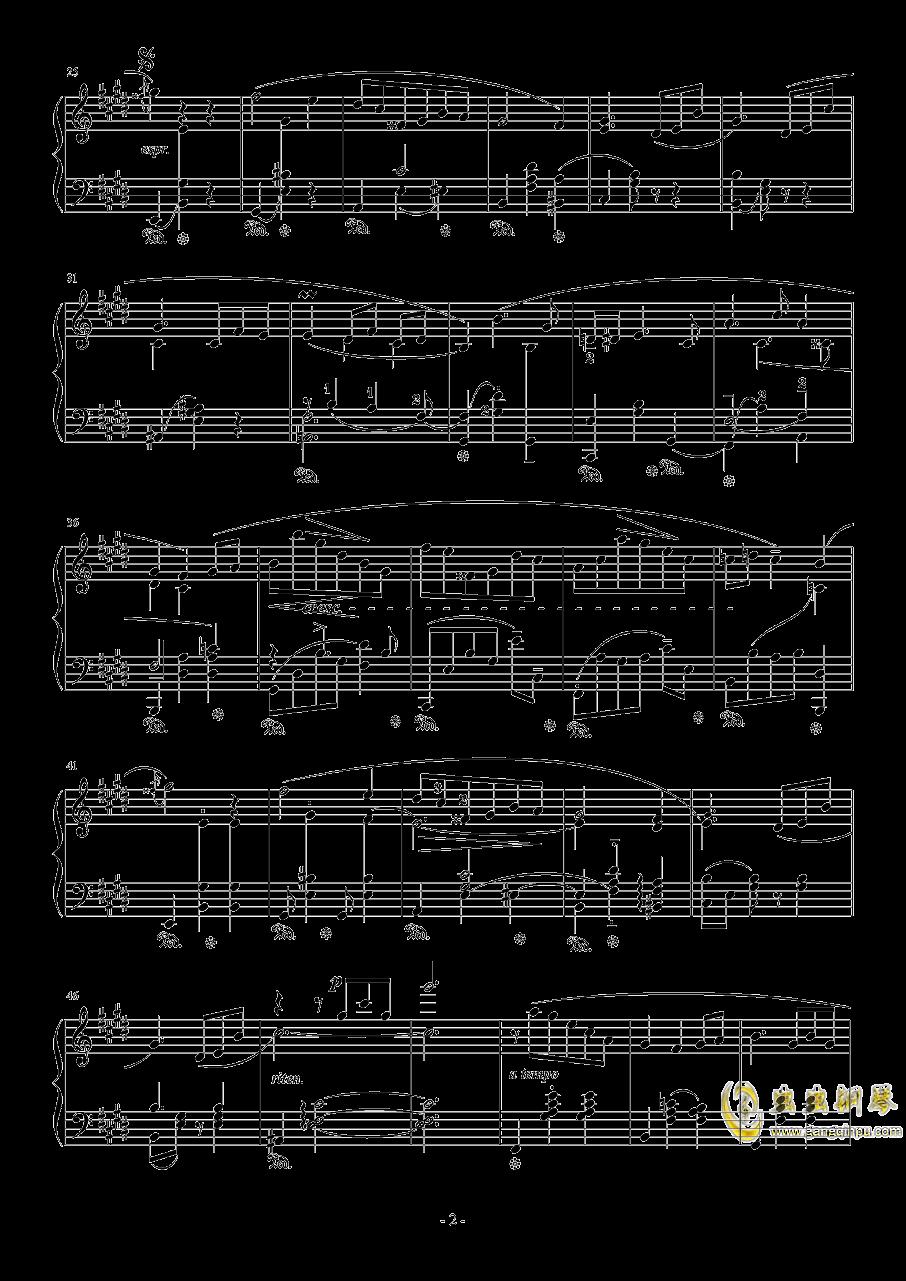 E大调即兴圆舞曲钢琴谱 第2页