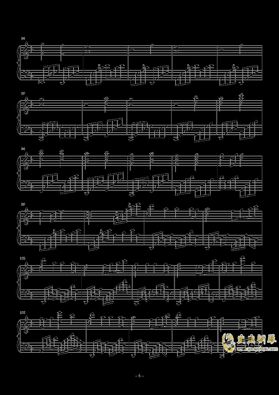 star sky钢琴谱 第4页