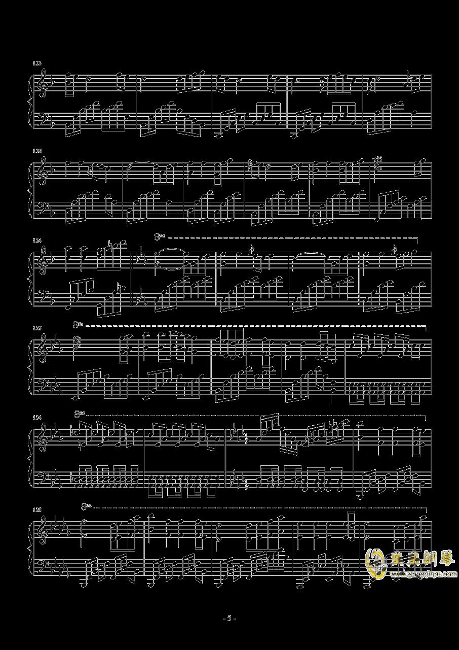star sky钢琴谱 第5页