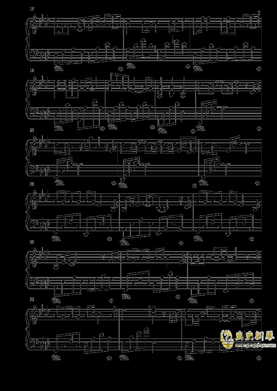 时间飞行钢琴谱 第2页