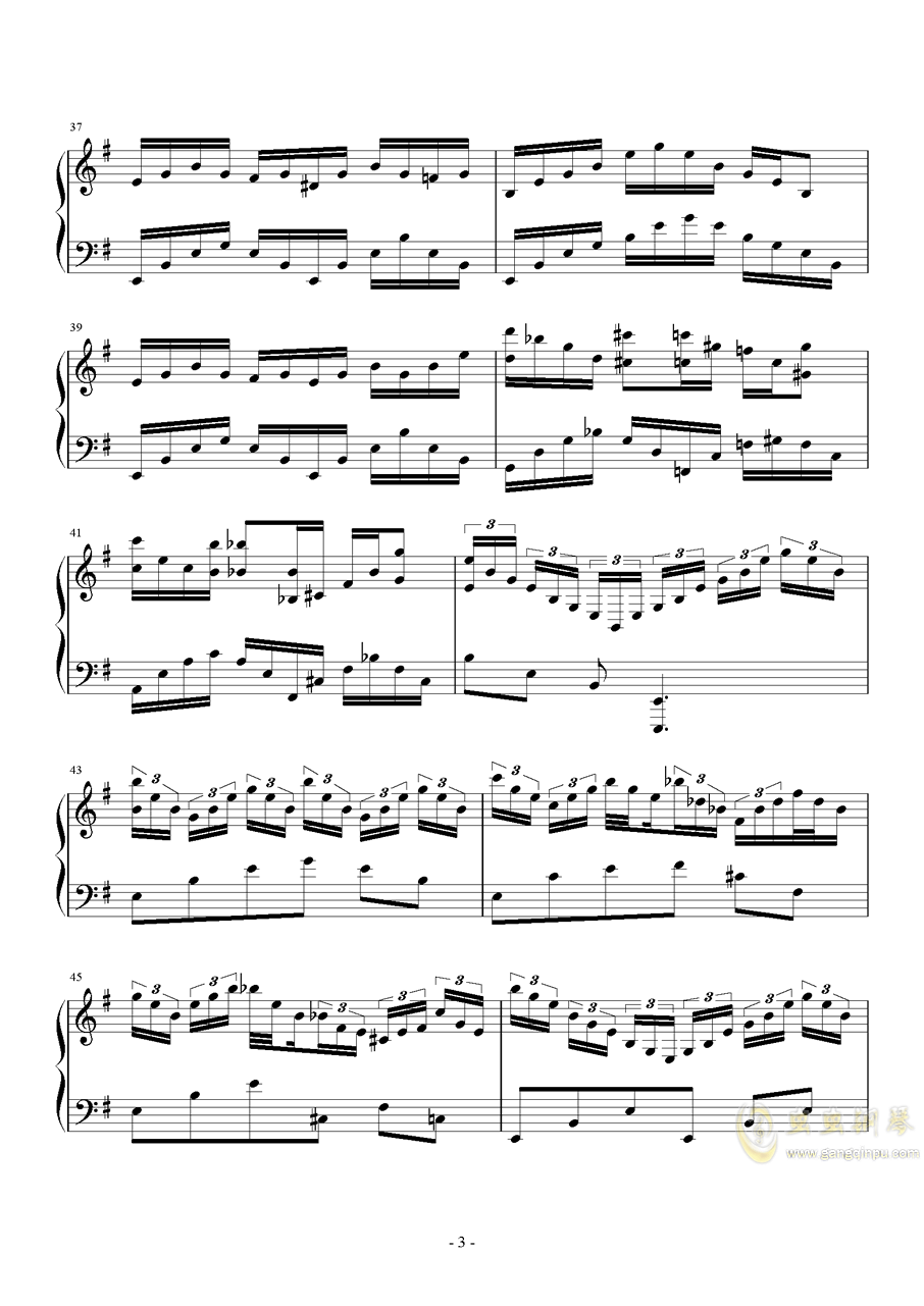 Hedwig钢琴谱 第3页