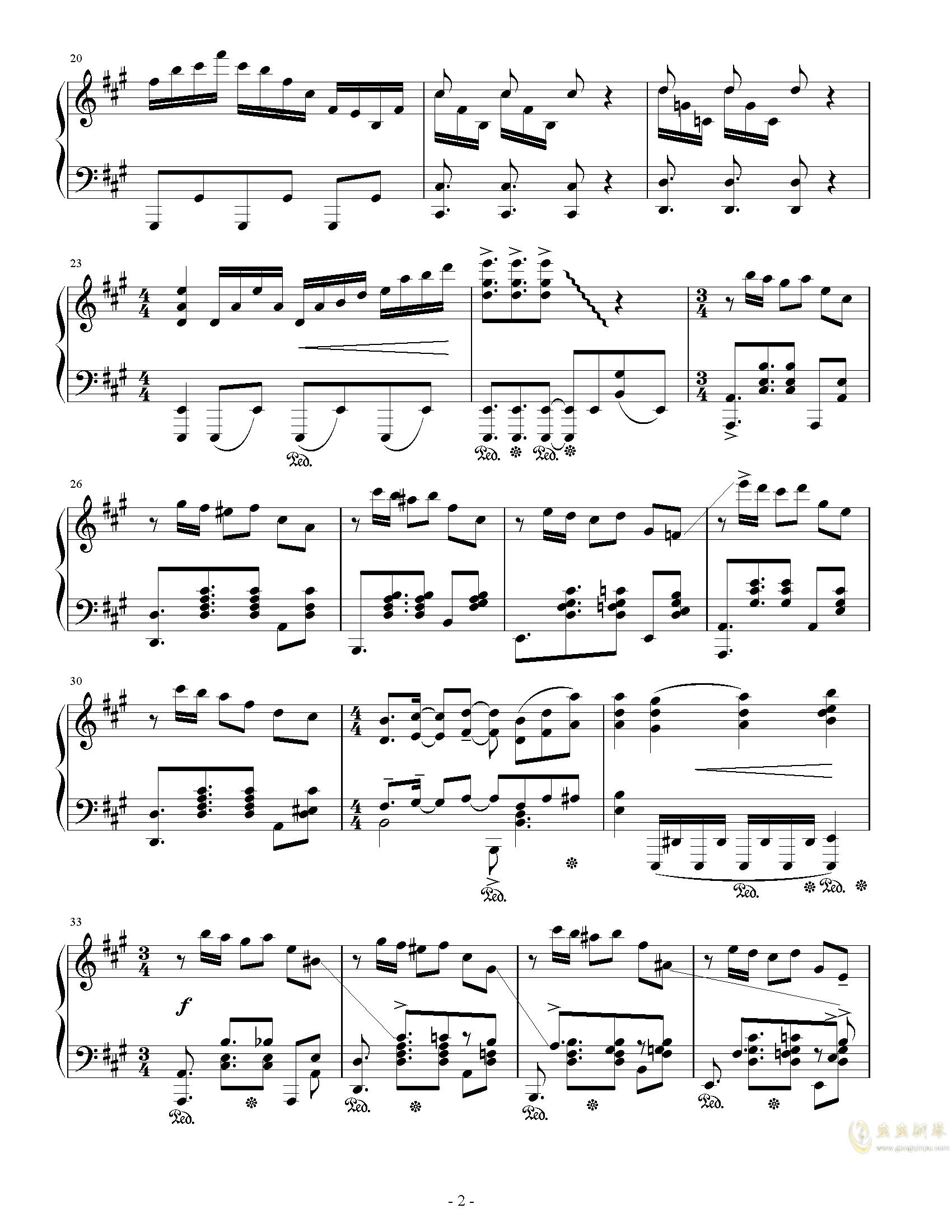 Party钢琴谱 第2页