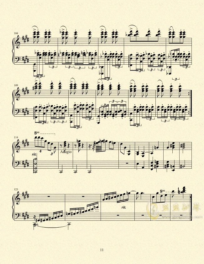 一只小猪的旅途钢琴谱 第11页