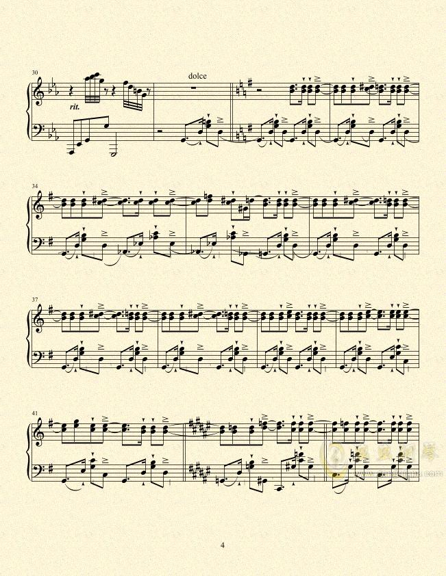 一只小猪的旅途钢琴谱 第4页