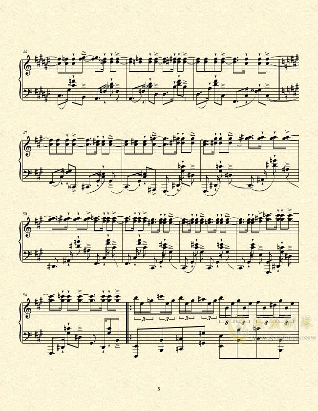 一只小猪的旅途钢琴谱 第5页