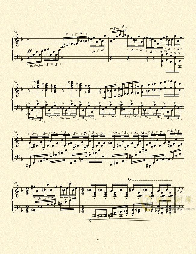 一只小猪的旅途钢琴谱 第7页