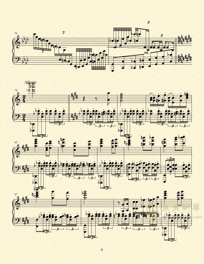 一只小猪的旅途钢琴谱 第9页