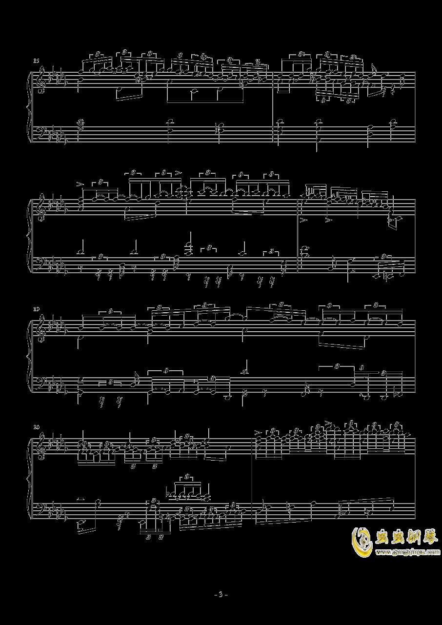 第一次飞行钢琴谱 第3页