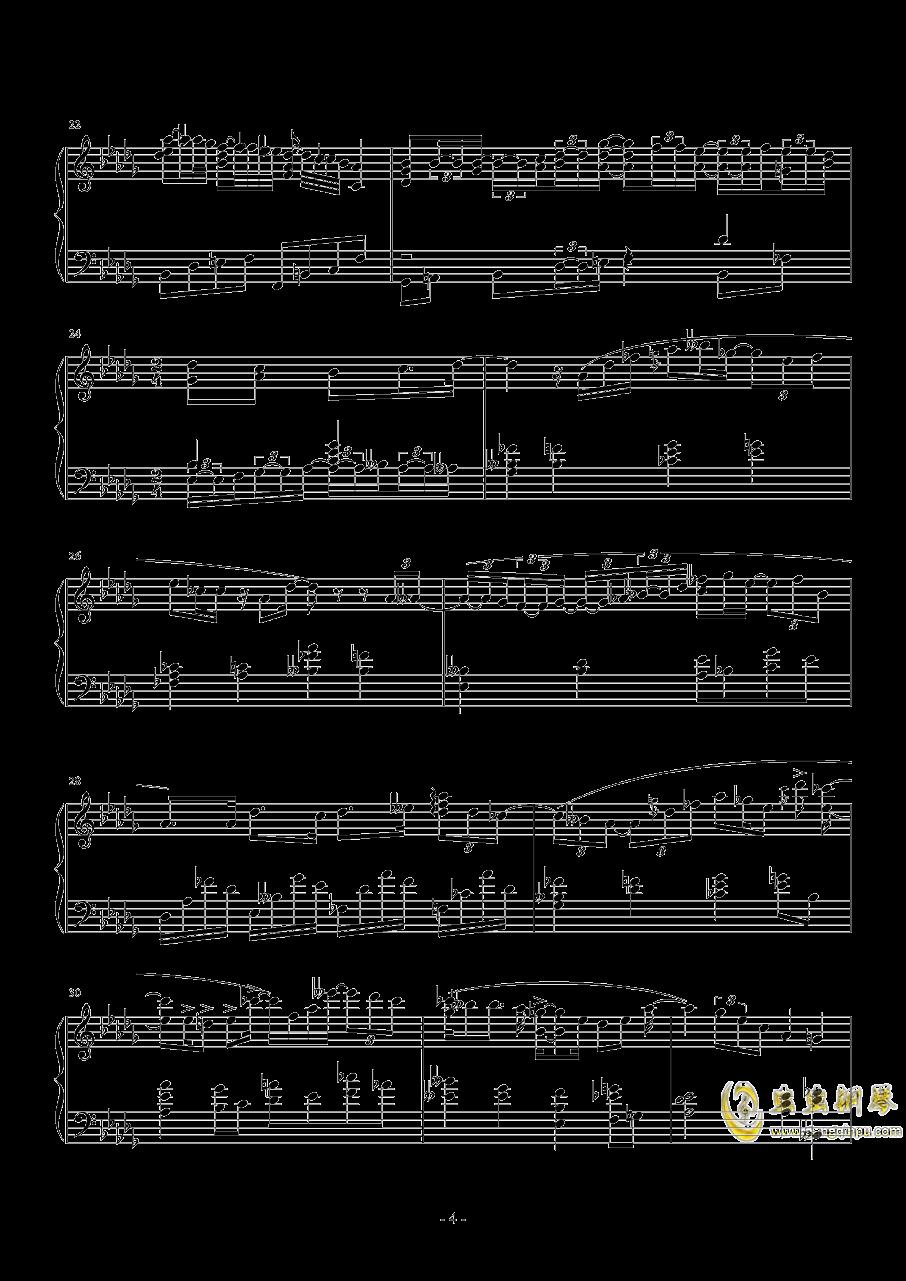 第一次飞行钢琴谱 第4页