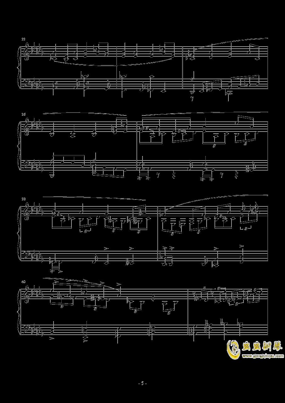 第一次飞行钢琴谱 第5页