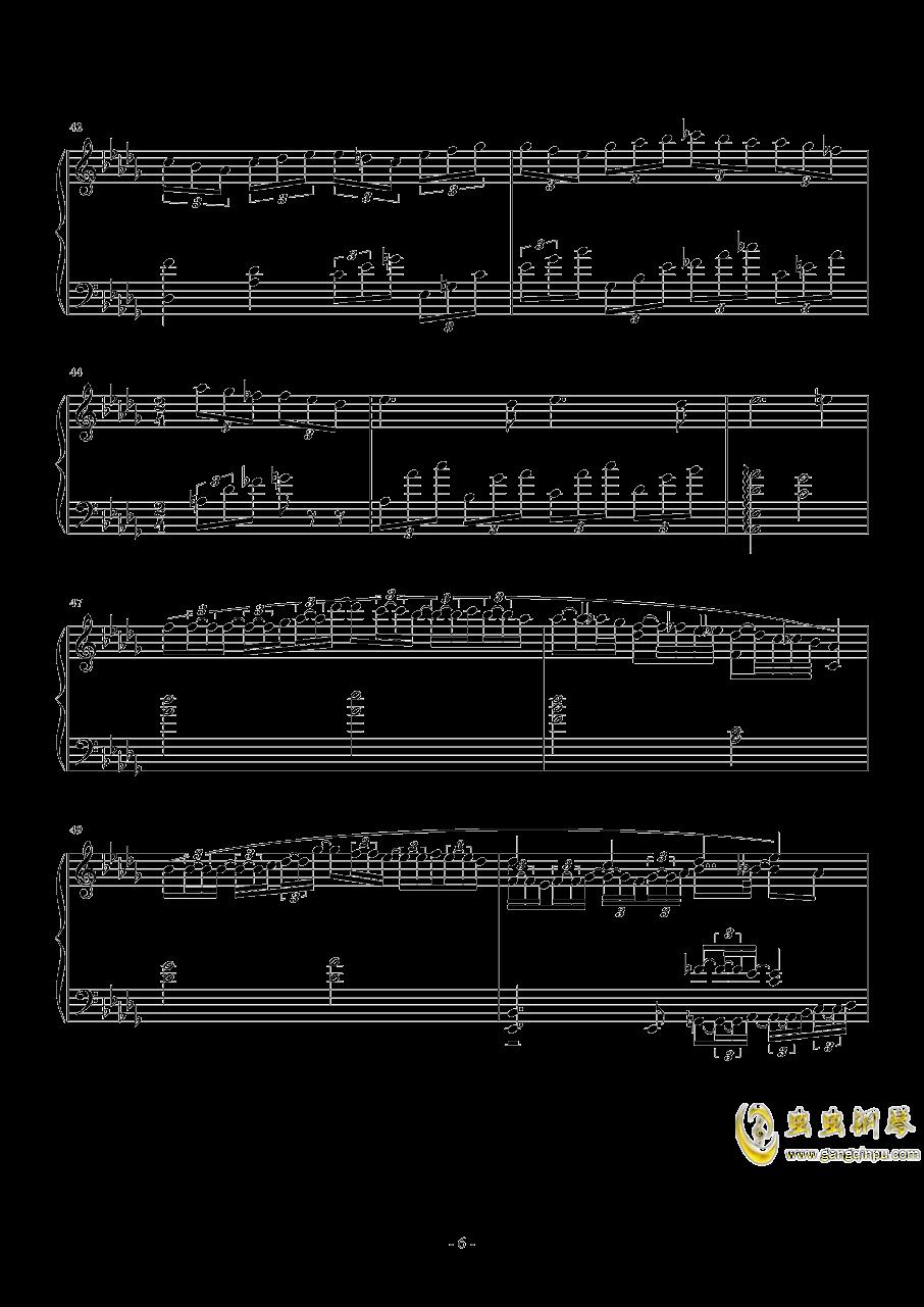 第一次飞行钢琴谱 第6页