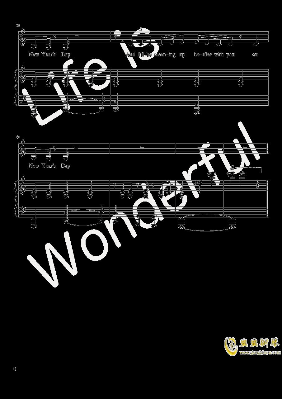New Year钢琴谱 第10页