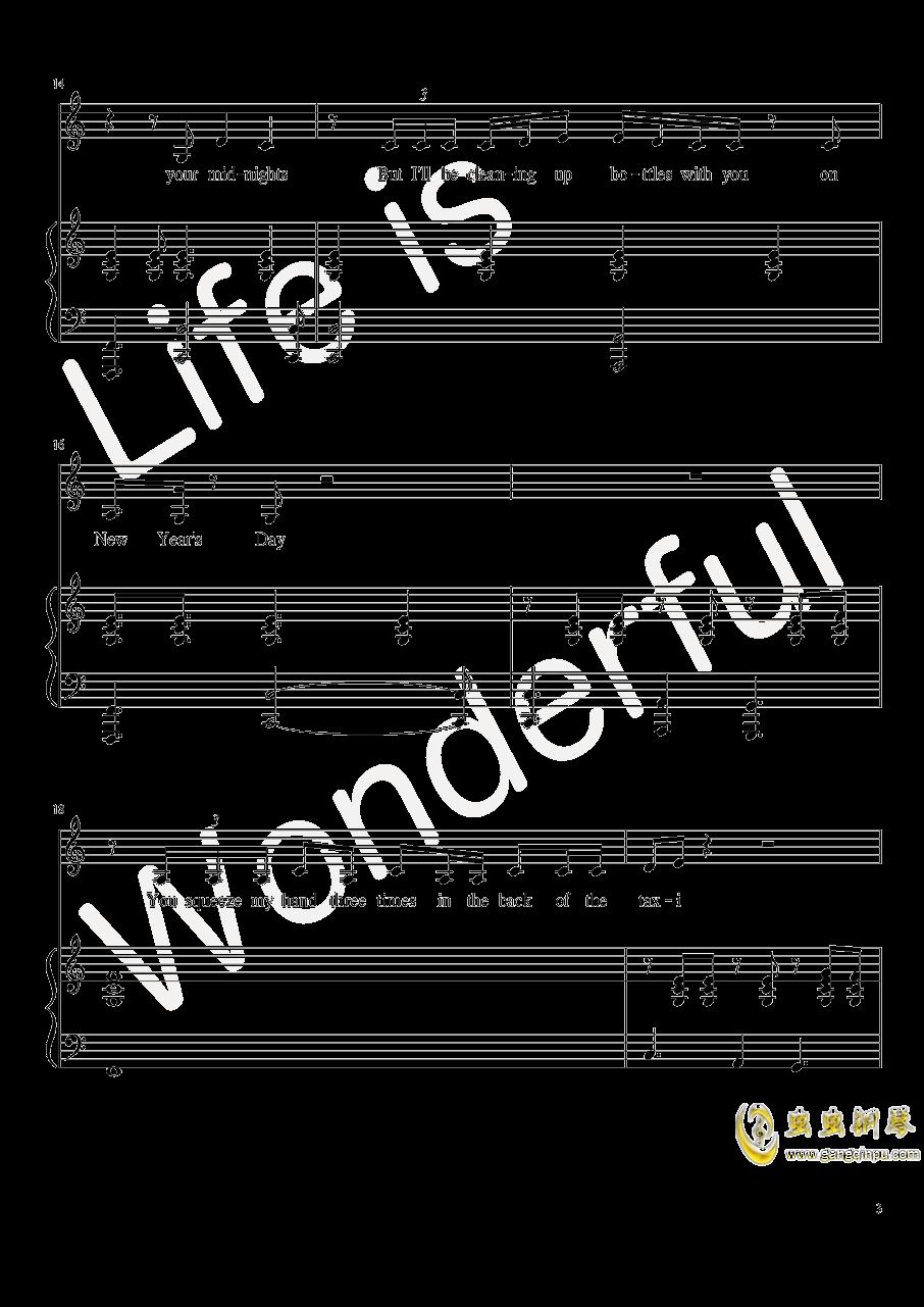 New Year钢琴谱 第3页