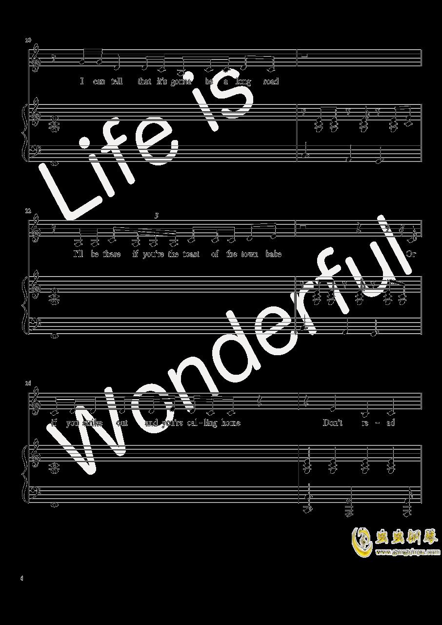 New Year钢琴谱 第4页