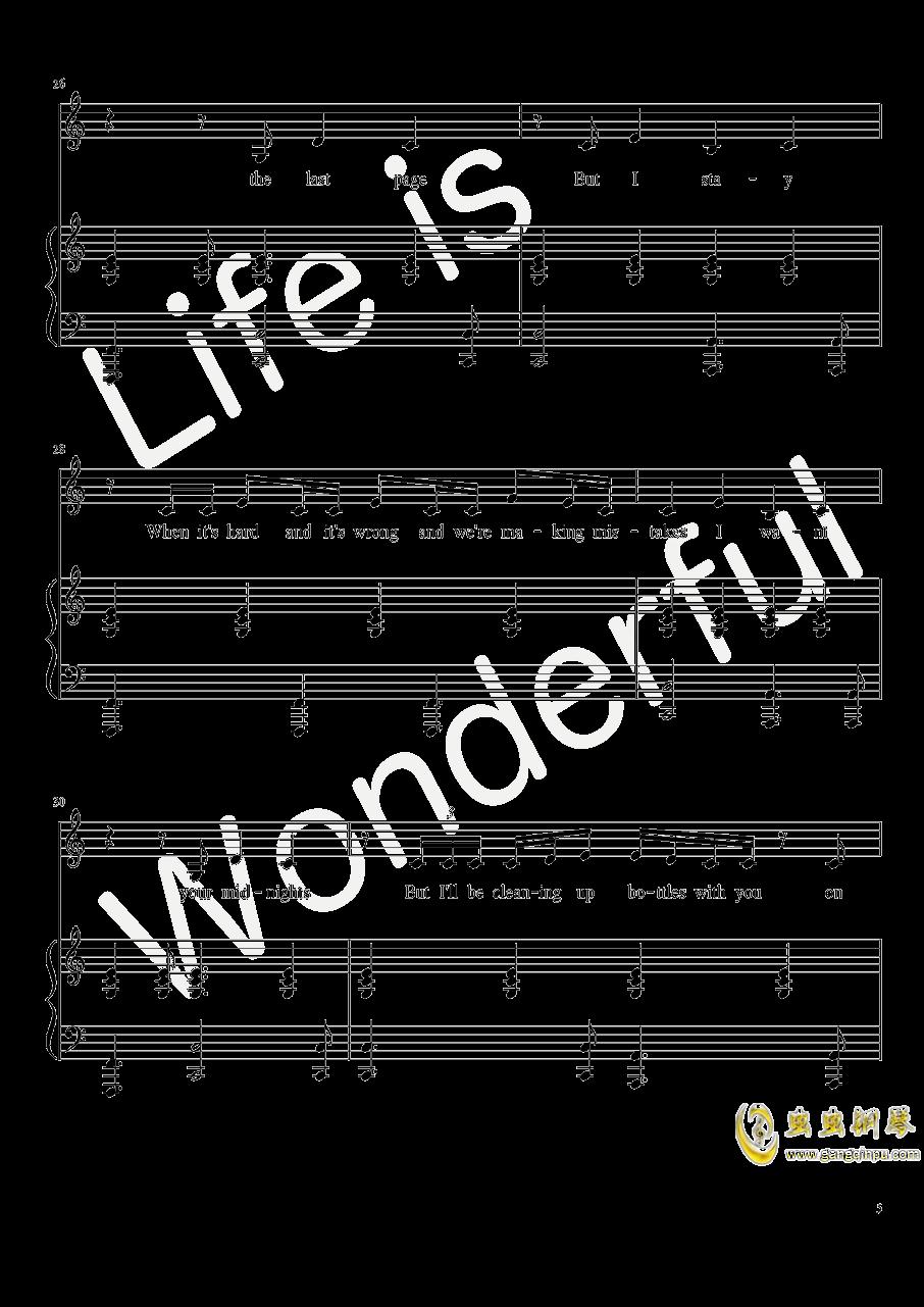 New Year钢琴谱 第5页