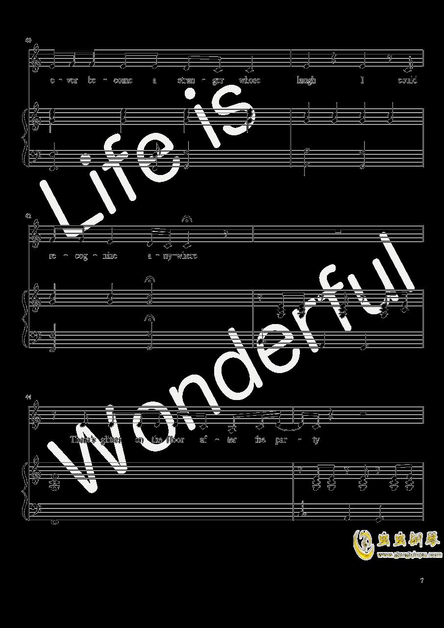 New Year钢琴谱 第7页
