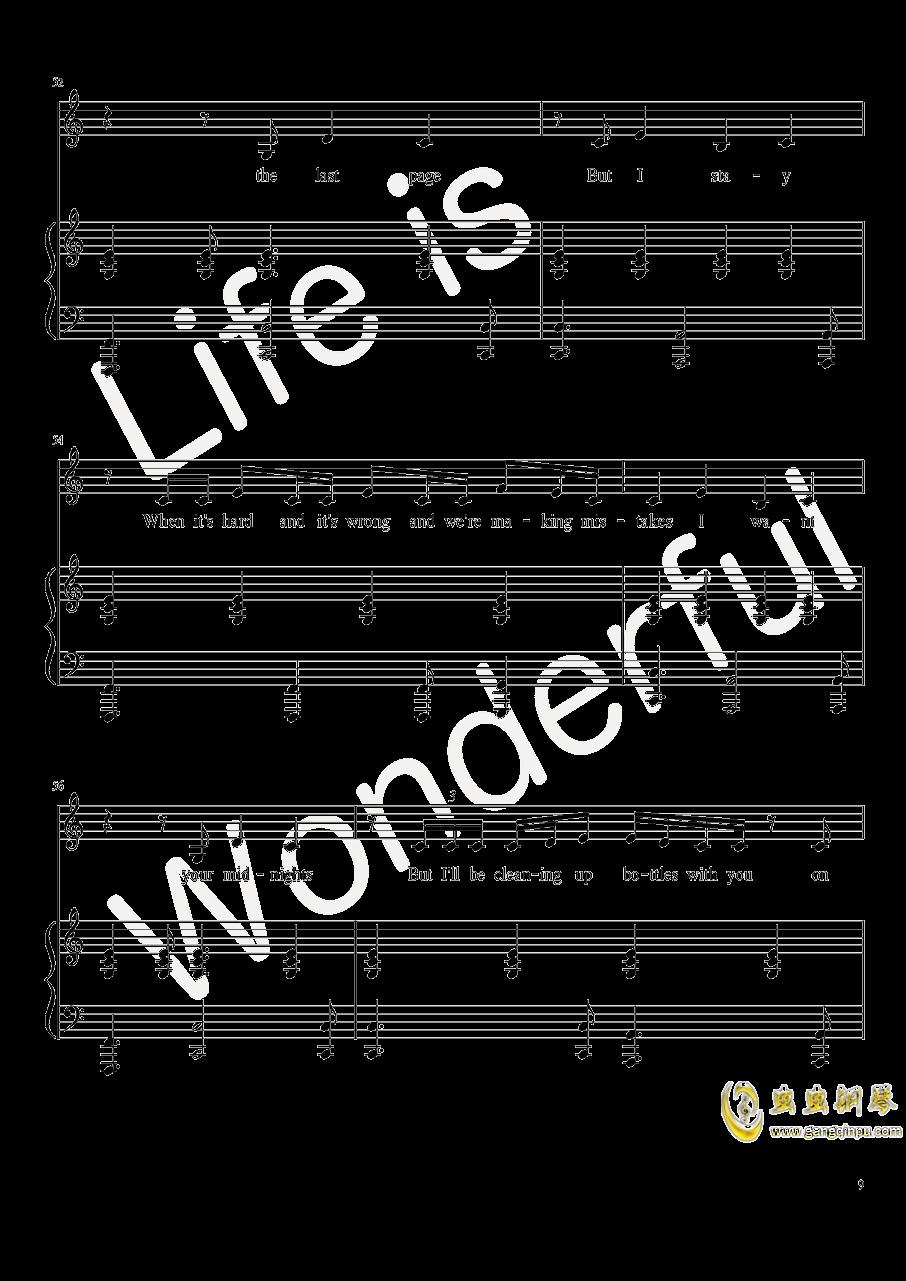 New Year钢琴谱 第9页