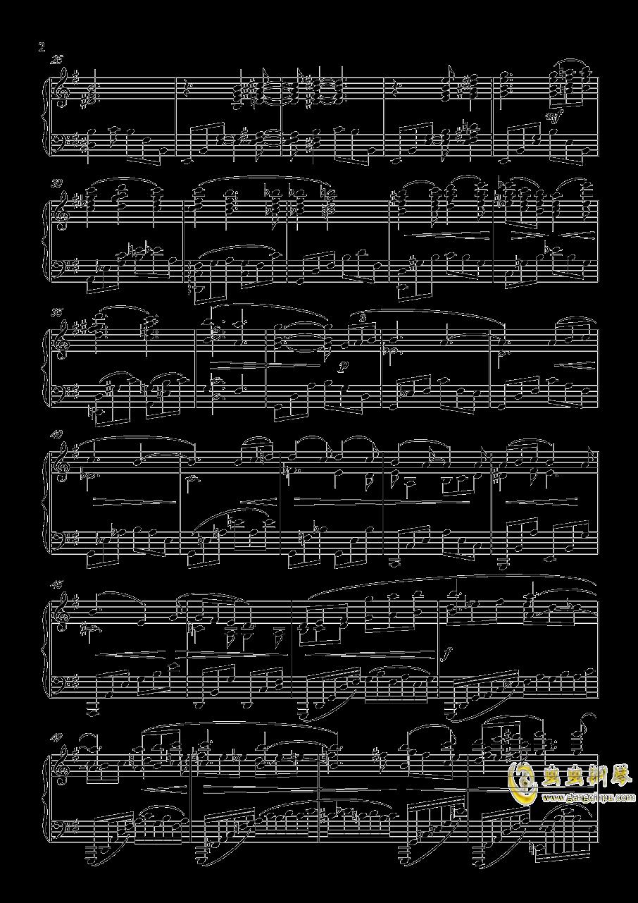 幻想曲,钢琴曲4首,Op3no3钢琴谱 第2页